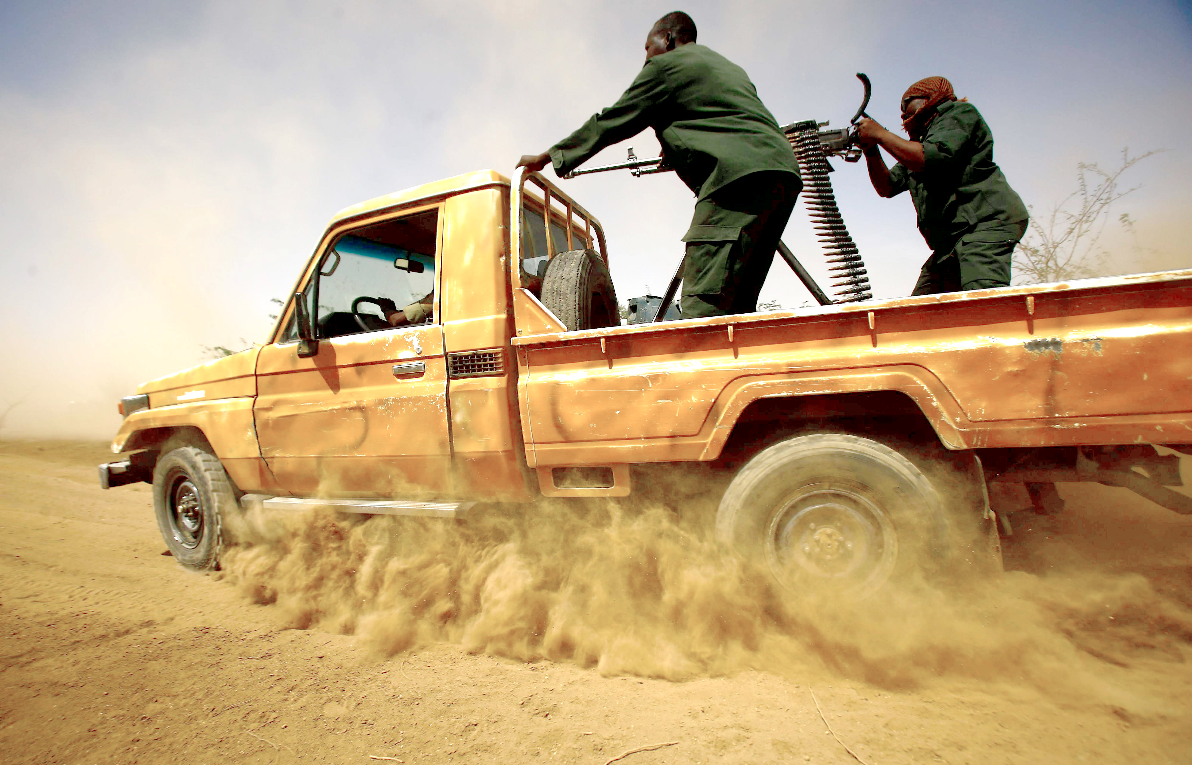 Simmering tension. Members of the Sudanese border security patrol the Sudan-Eritrea border near the eastern border town of Kassala in Sudan.(AFP)