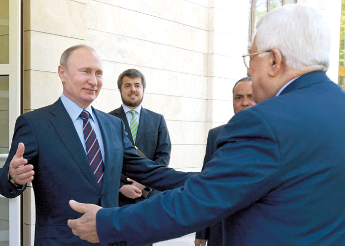 "Putin may be less interested in bringing about an Israeli-Palestinian settlement than in portraying himself as more ""even-handed"" than Trump."