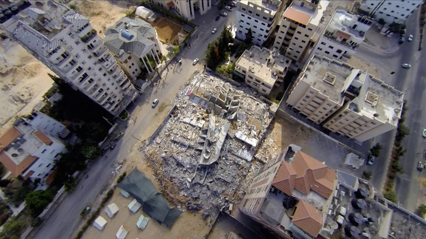 "Nostalgic look. Gaza as seen from above in Alsharif's first  feature-length film ""Ouroboros.""                       (Provided by Karen Dabrowska)"