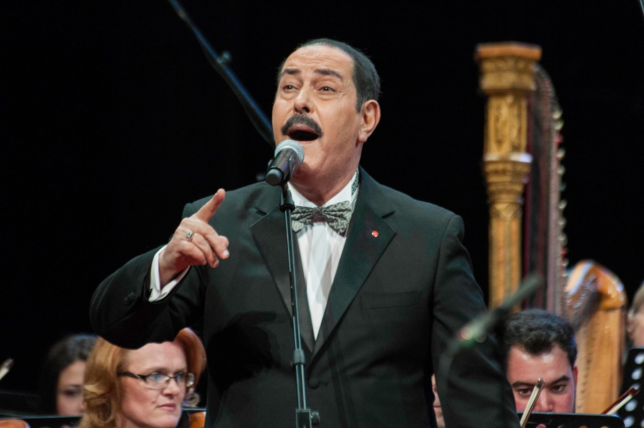 Tunisian singer Lotfi Bouchnak performs at the opening concert of the City of Culture in Tunis. 	  (City of Culture)
