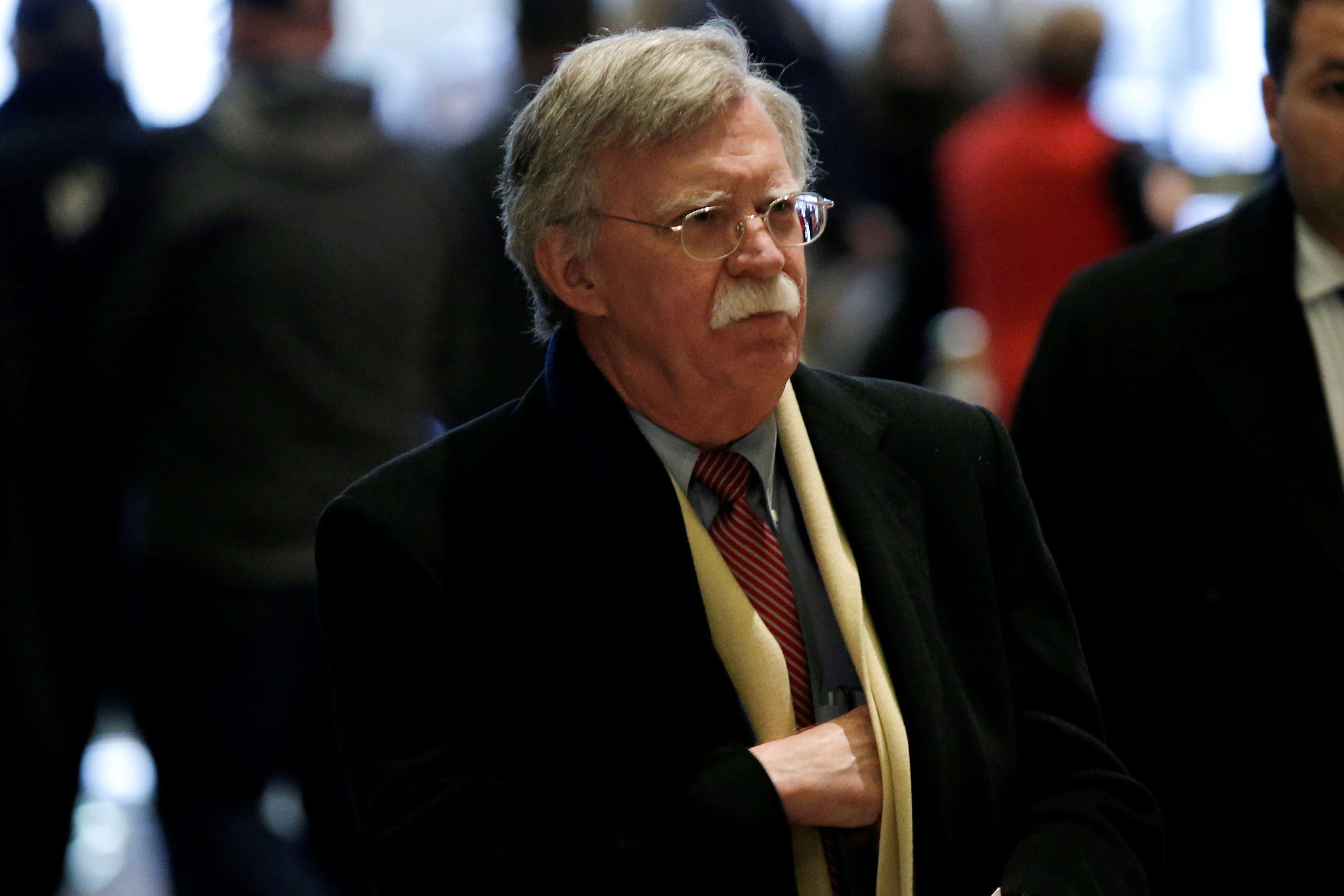 A 2016 file picture shows former US Ambassador to the United Nations John Bolton arriving for a meeting with US President Donald Trump in New York. (Reuters)
