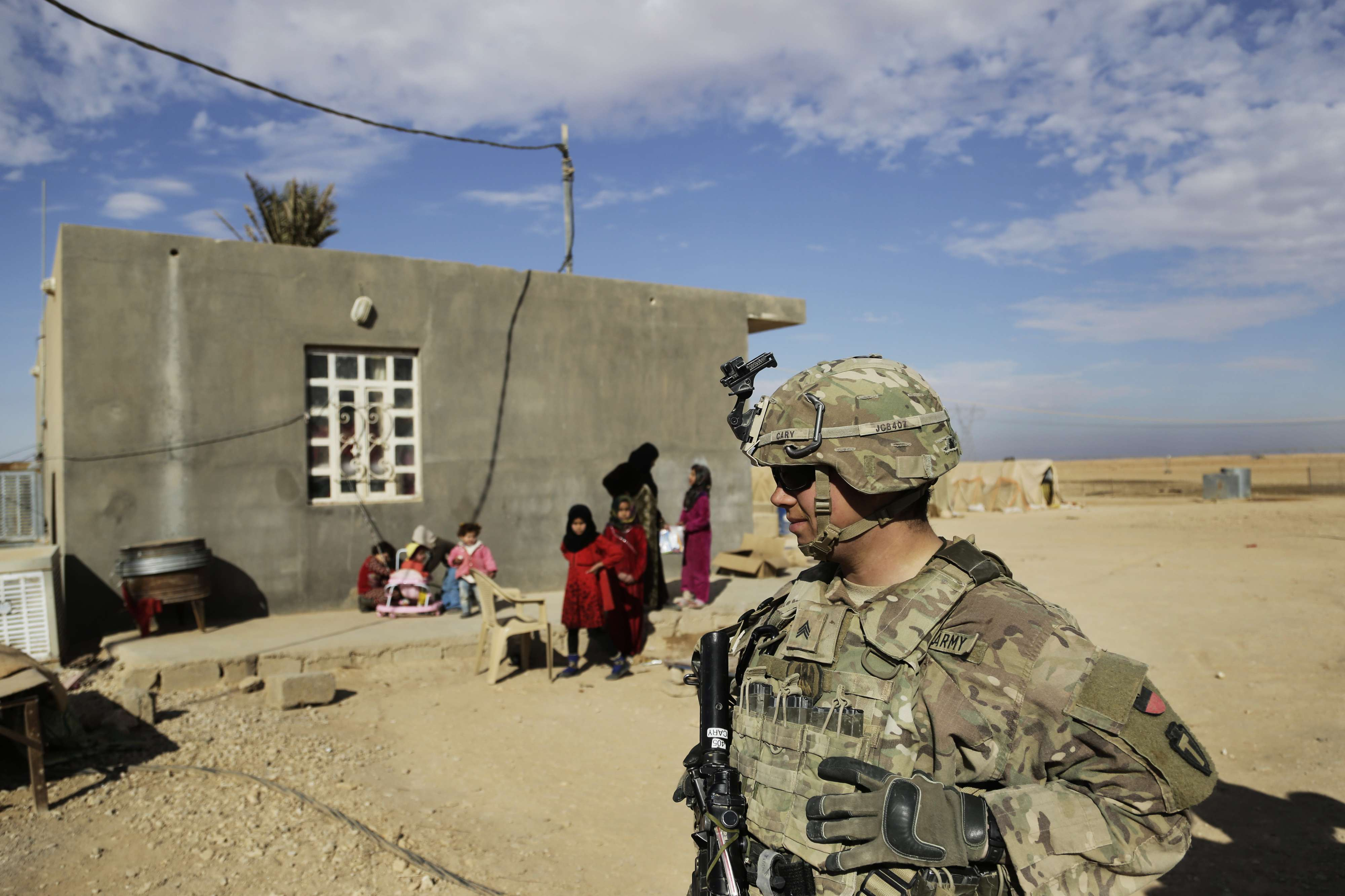 A US Army soldier is seen in rural Anbar, on January 27. (AP)