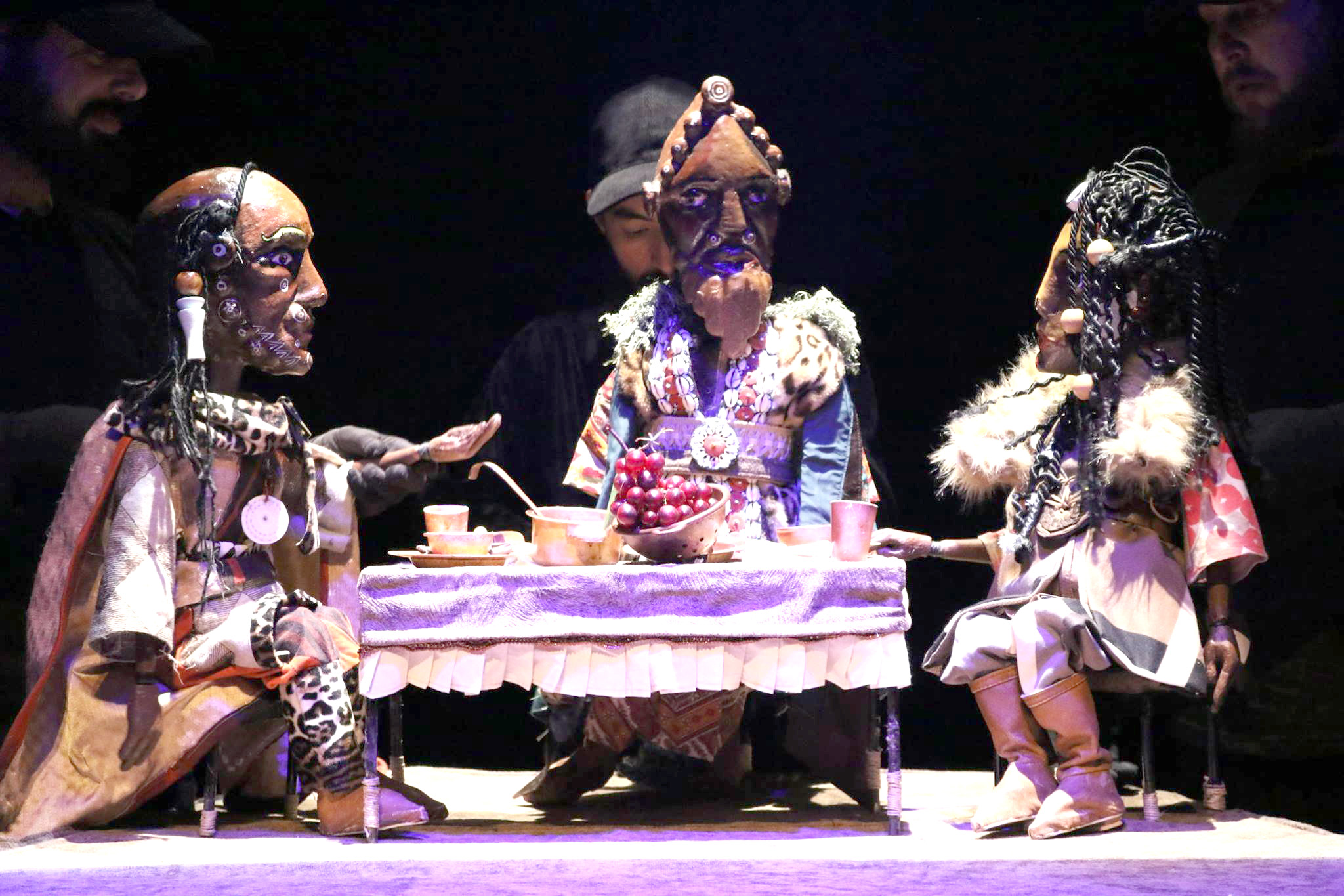 "Unique discipline. A scene from the forum's opening show, ""The Storm,"" based on Shakespeare's ""King Lear.""                                                                                                                                                                                                                                                                            (Tunisia's National Centre for Puppetry Art)"