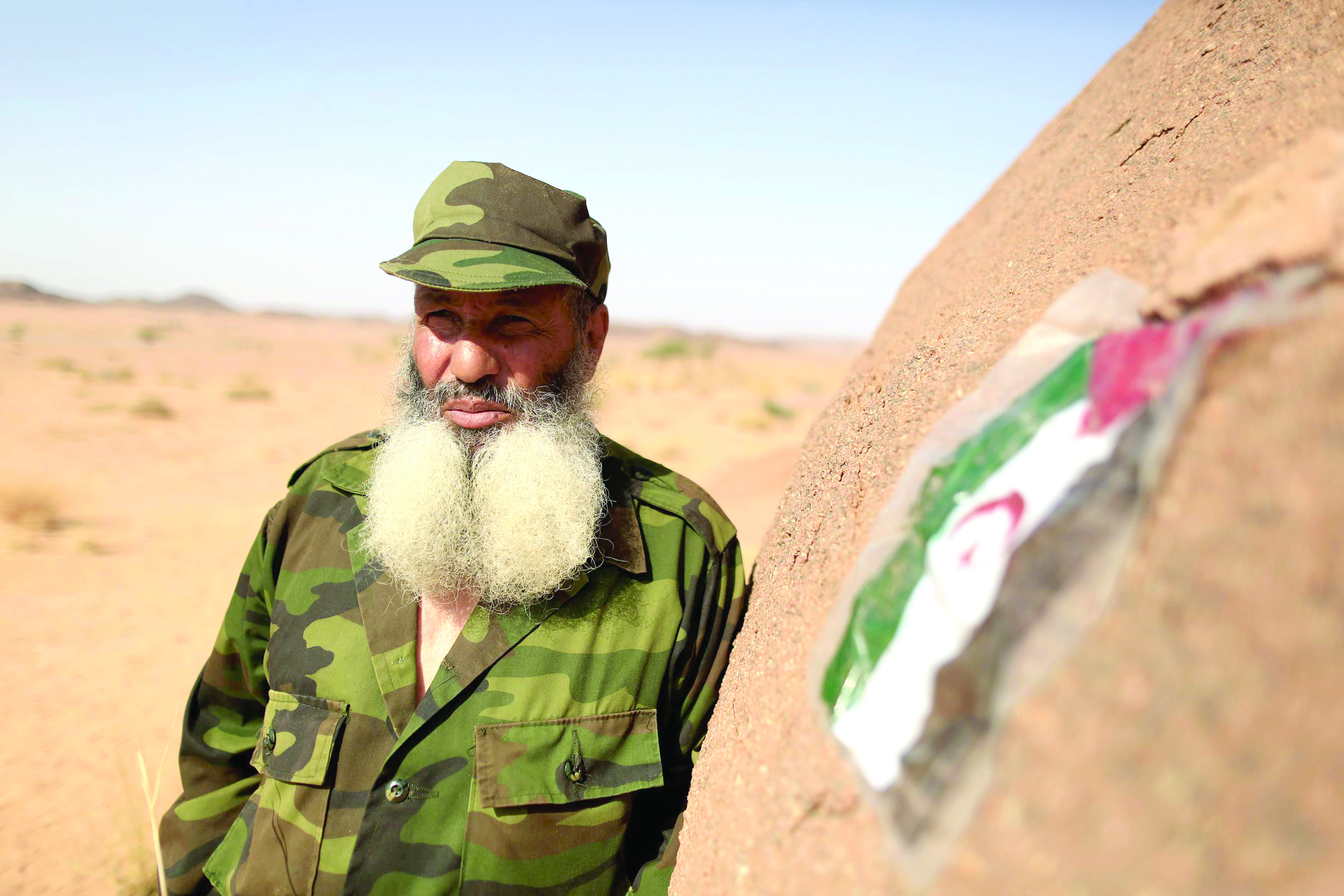 A Polisario Front fighter is seen on the outskirts of Tifariti in the Western Sahara.   (Reuters)