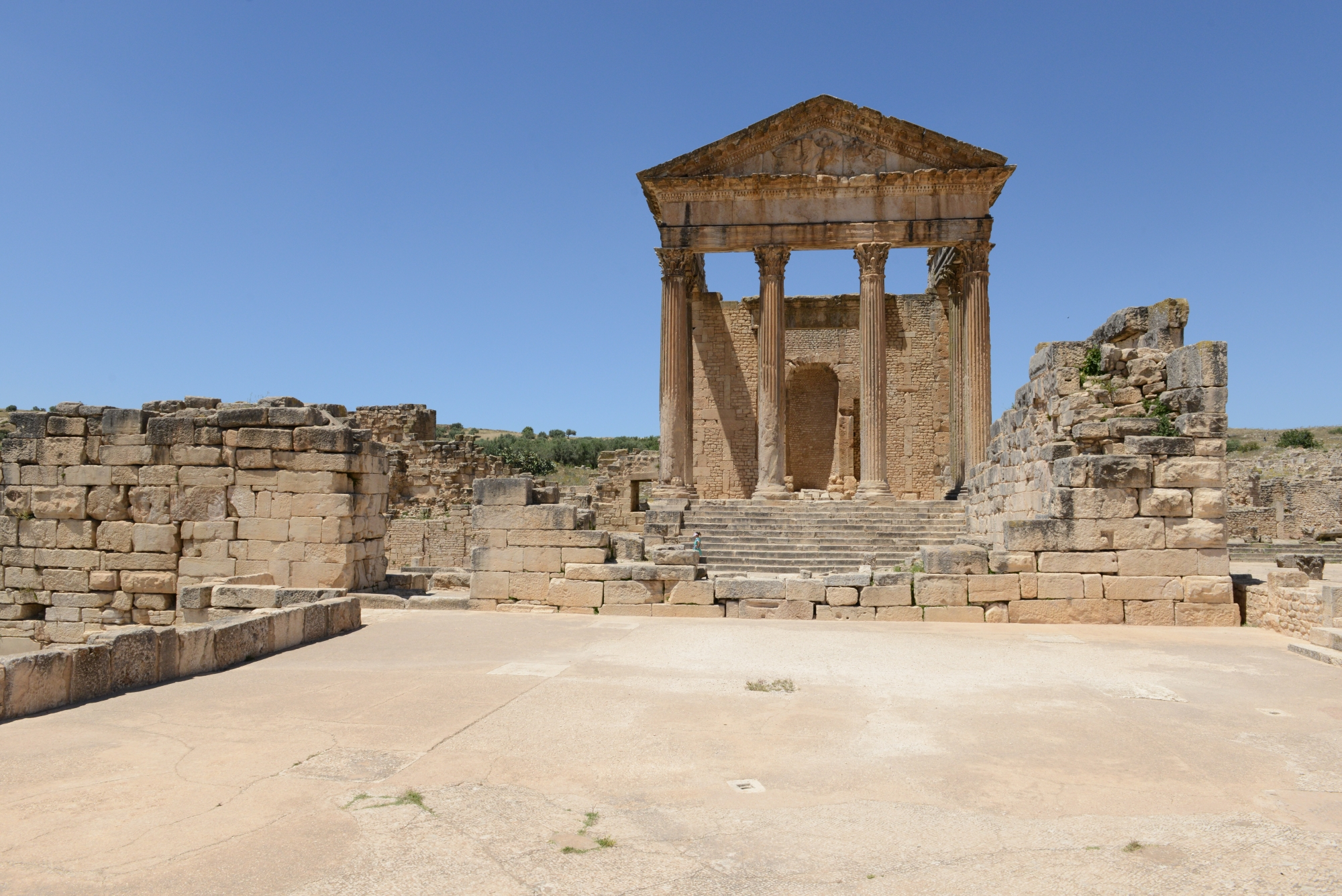 The Roman Capitol in Dougga. (Ministry of Tourism)