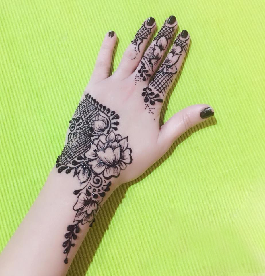 Artistic celebration. Designs used by the Henna House in Jordan.   (Henna House)
