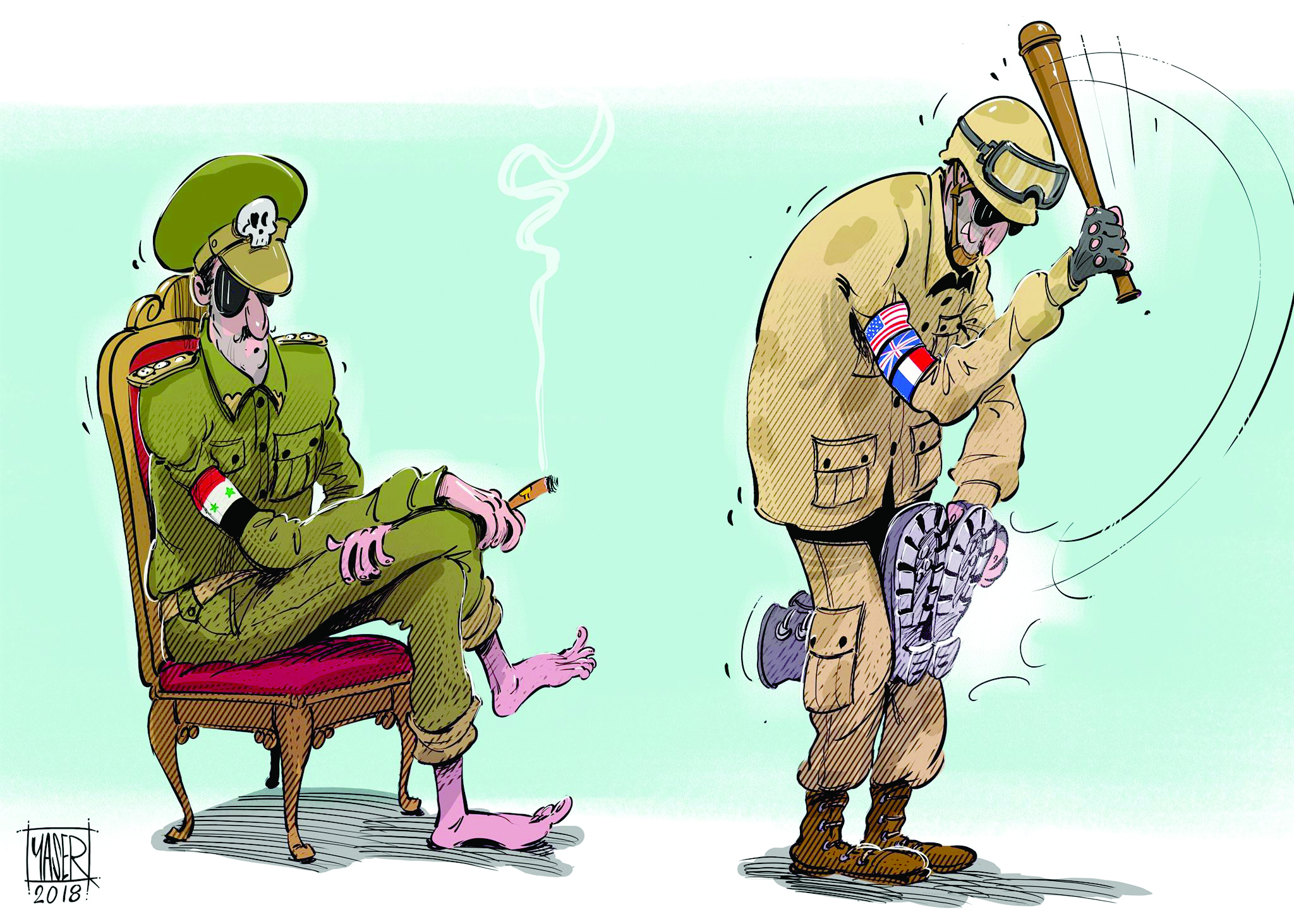 The West punishes Syria's Assad regime © Yaser Ahmed for The Arab Weekly
