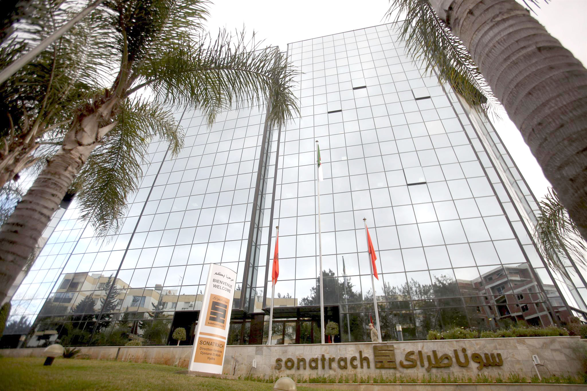A general view of the headquarters of Algerian state energy company Sonatrach in Algiers.                (Reuters)
