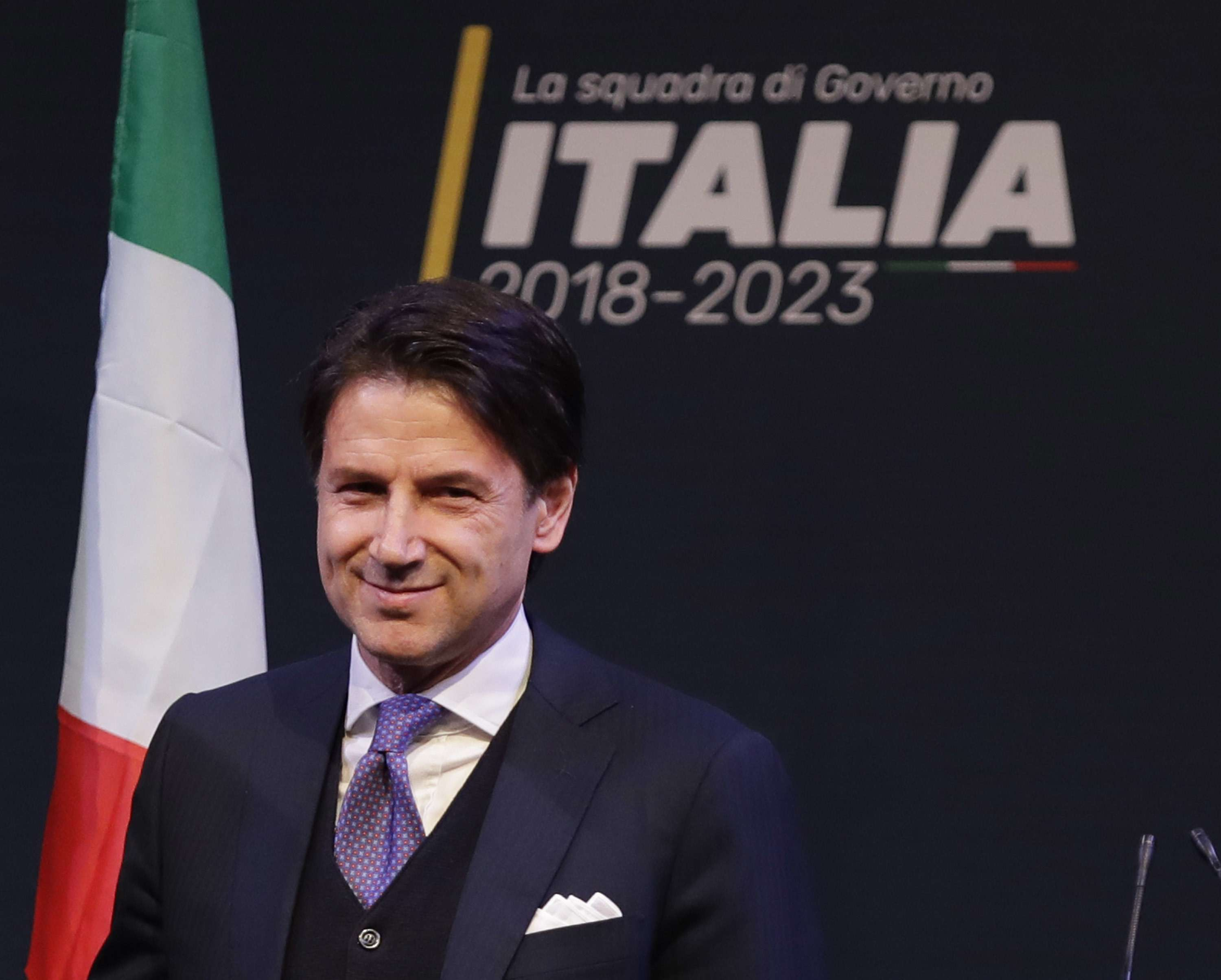 Closer to power. Compromise candidate for prime minister Giuseppe Conte.			       (AP)