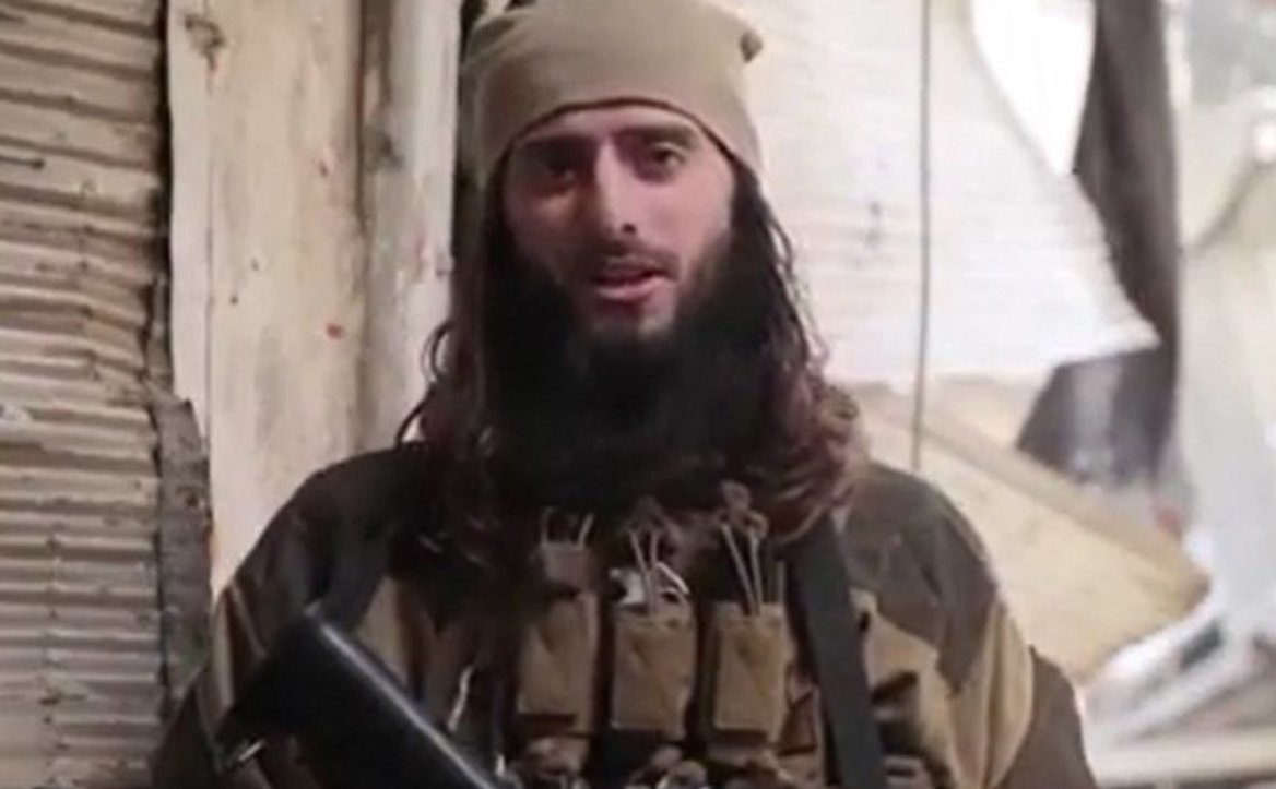 Zulfi Hoxha, a senior ISIS commander known as Abu Hamza al-Amriki. (Video grab)