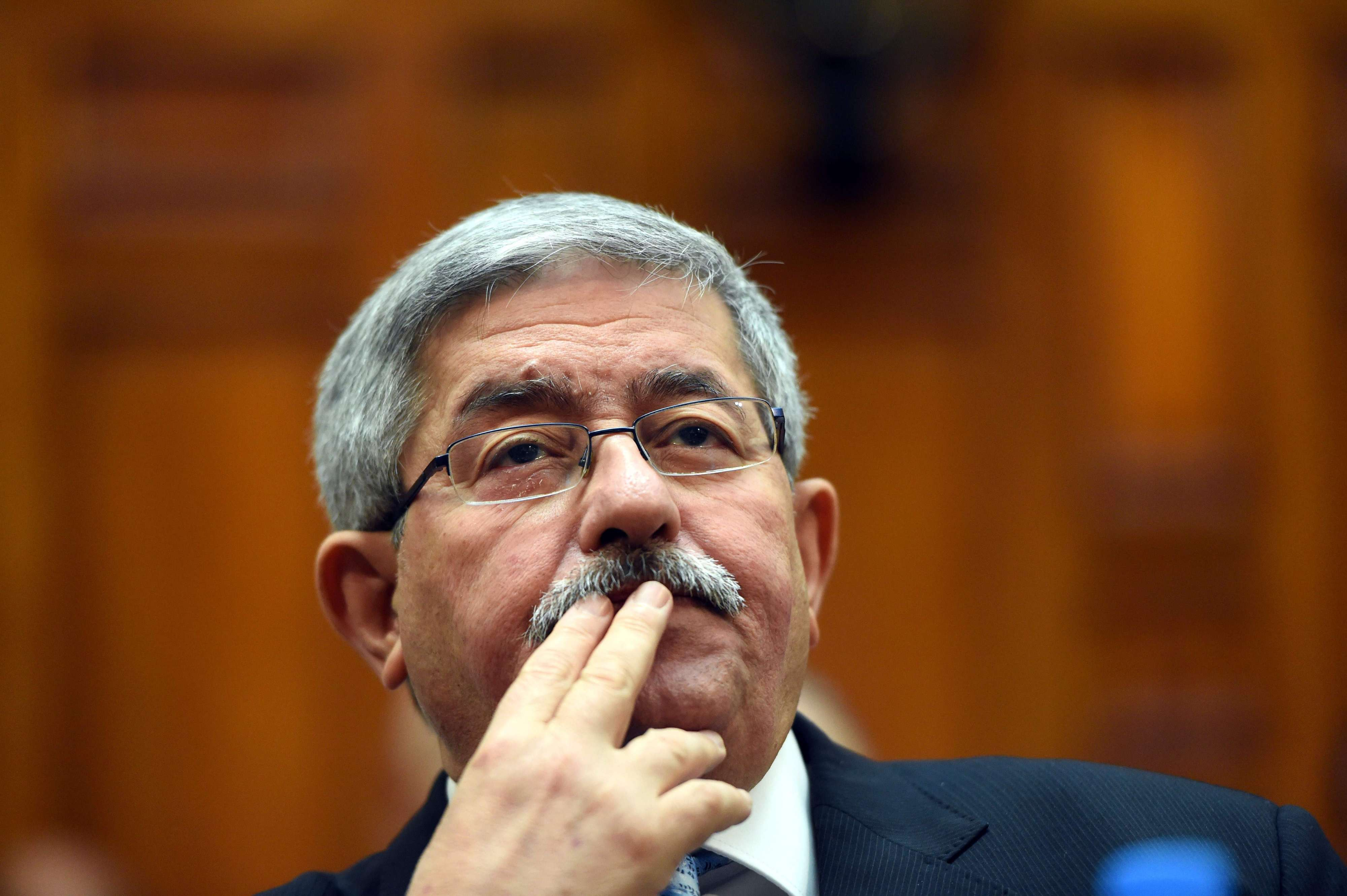 In check. Algerian Prime Minister Ahmed Ouyahia attends a parliament session in Algiers. (AFP)
