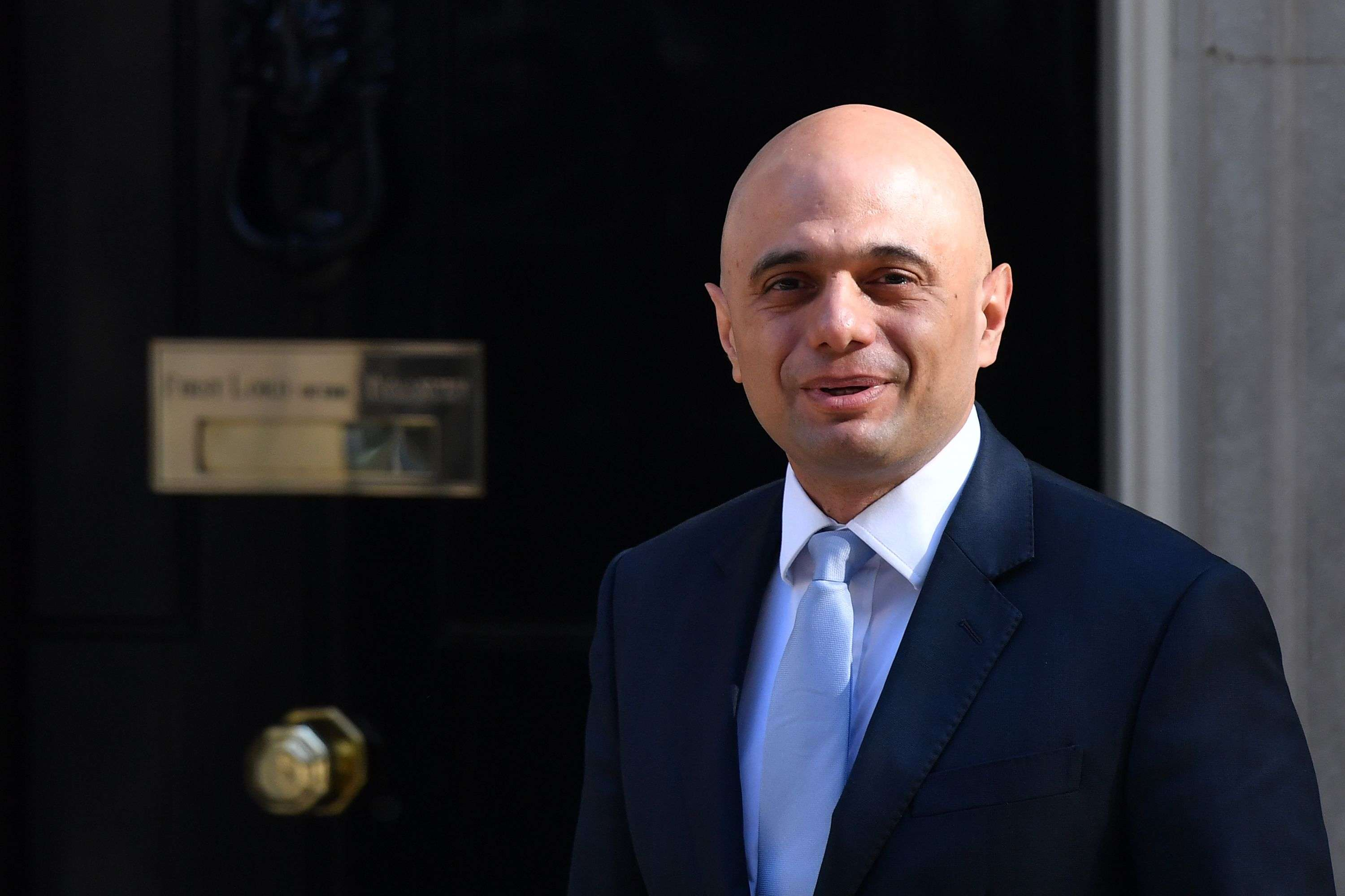 Conservative Muslim at the helm. Britain's new Home Secretary Sajid Javid arrives for the weekly meeting of the cabinet at Downing Street in London on May 1. (AFP)