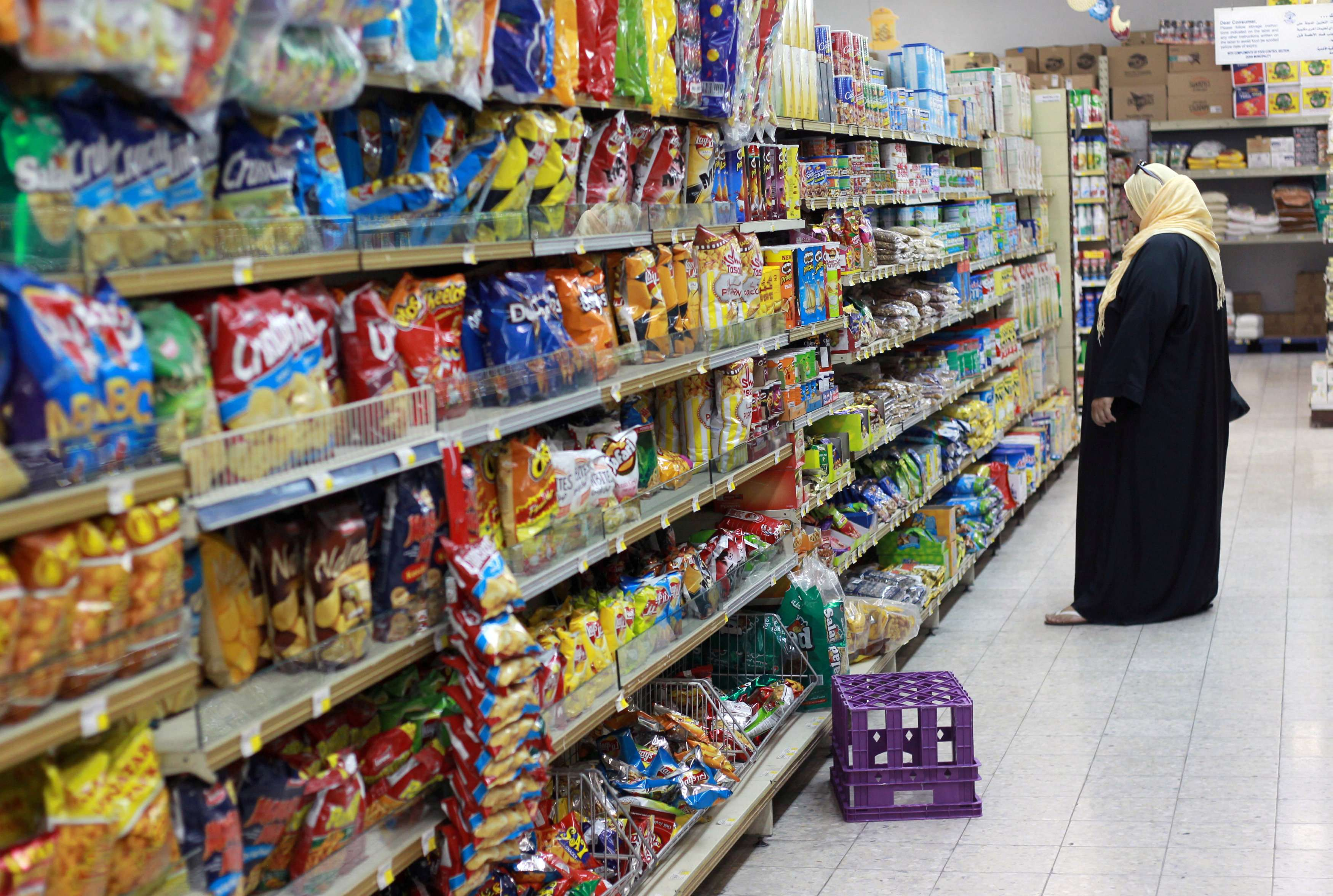 A woman shops in a supermarket in Doha.  (Reuters)