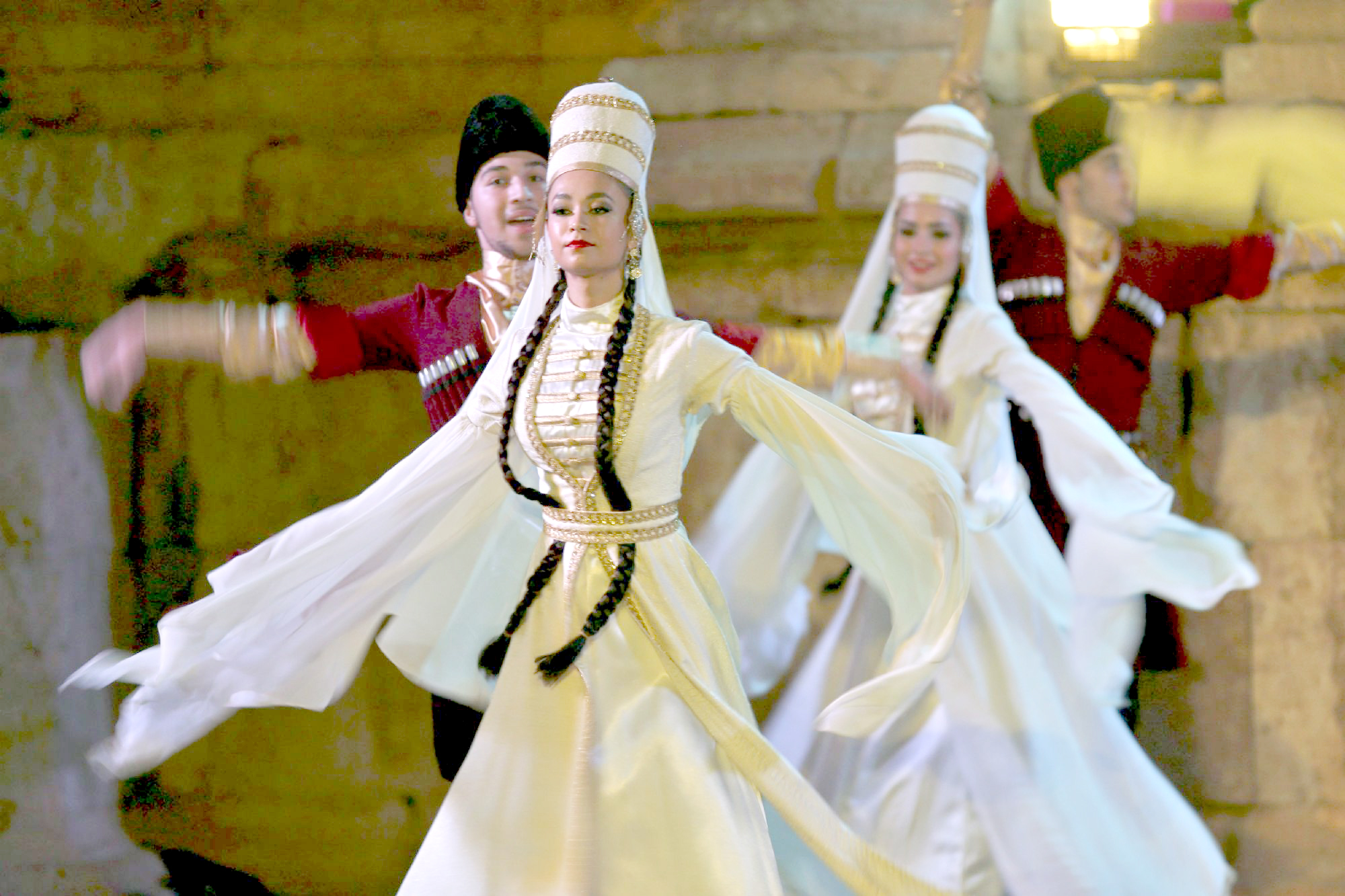 Exceptional atmosphere. A file picture shows dancers from Al-Jeel Al-Jadeed Circassian Folklore Dance Troupe performing at the Jerash Festival of Culture and Arts. (Reuters)
