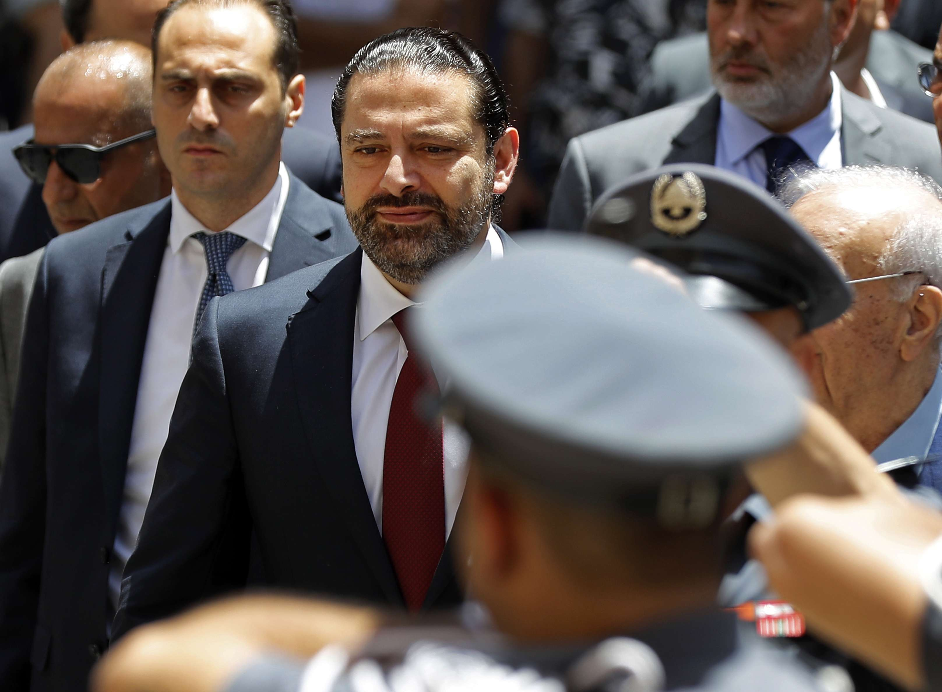 Challenging task. Lebanese Prime Minister Saad Hariri arrives at the Lebanese parliament to attend a session for the election of the House speaker in Beirut, on May 23. (Reuters)