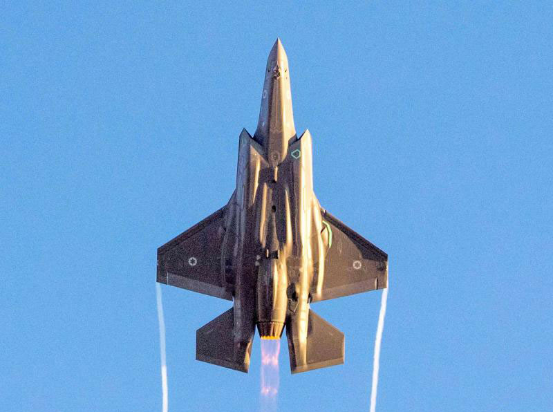 Enhanced capabilities. An Israeli Air Force F-35 Lightning II fighter plane performs at an air show in the Negev desert. (AFP)