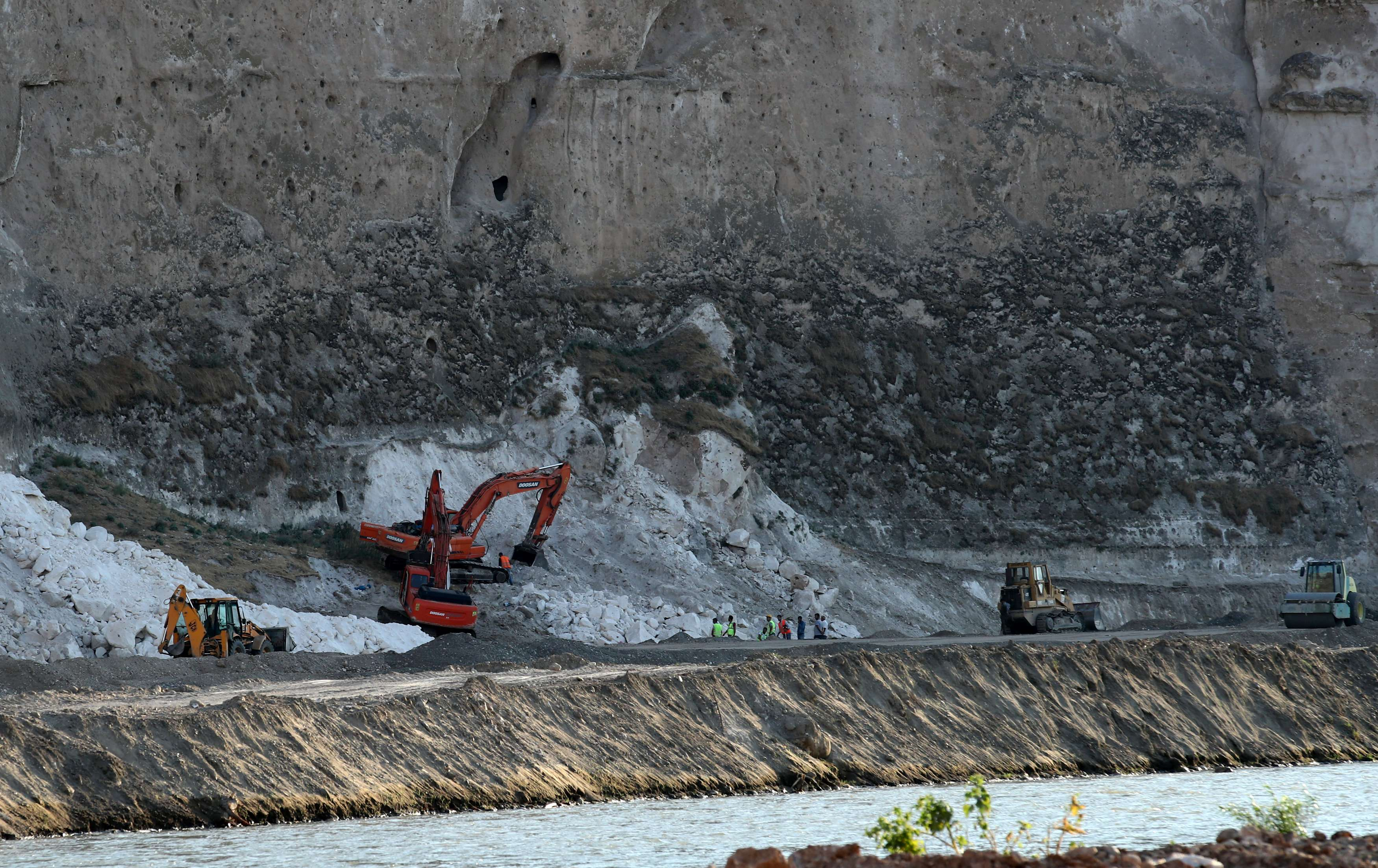 More than a drop in the ocean. A general view of the construction site of the Ilisu Dam. (Reuters)