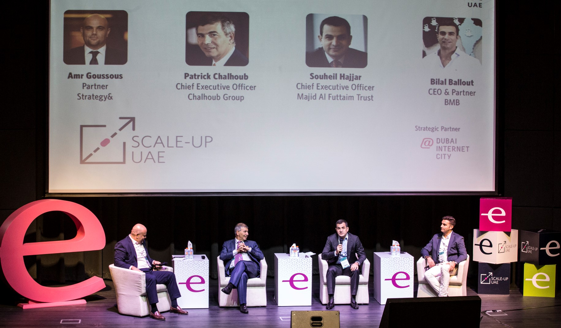 Entrepreneurs and experts attend a panel discussion at the Scale-Up UAE event in Dubai. (Scale-Up UAE)
