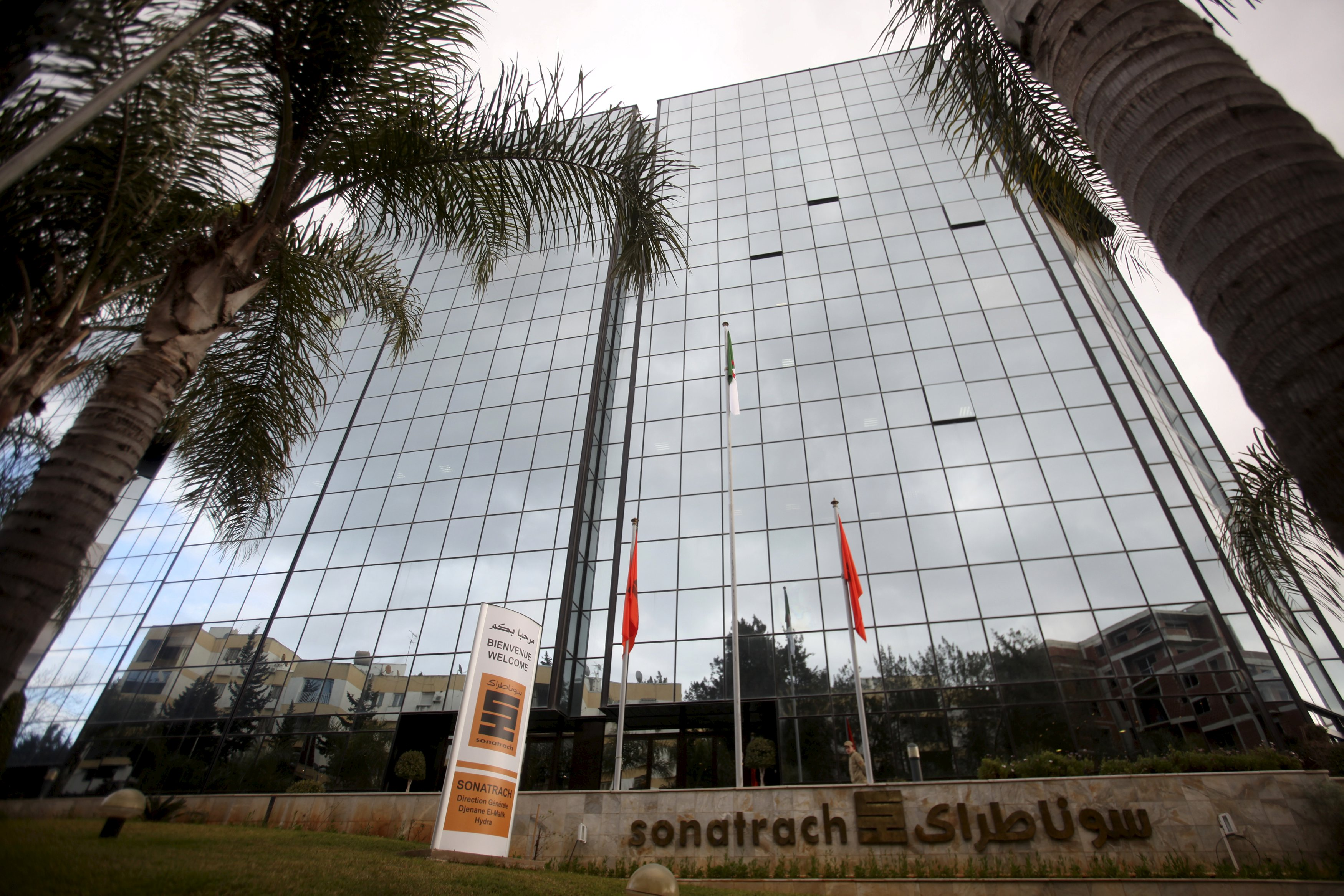 Outside view of Sonatrach headquarters in Algiers. (Reuters)