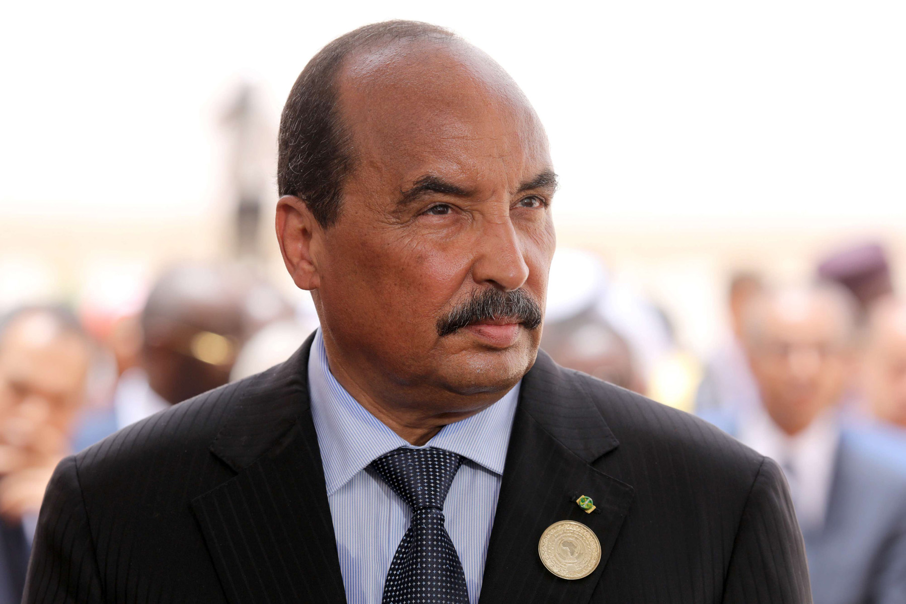 Mauritania's President Mohamed Ould Abdel Aziz at Nouakchott airport, on July 2. (AP)