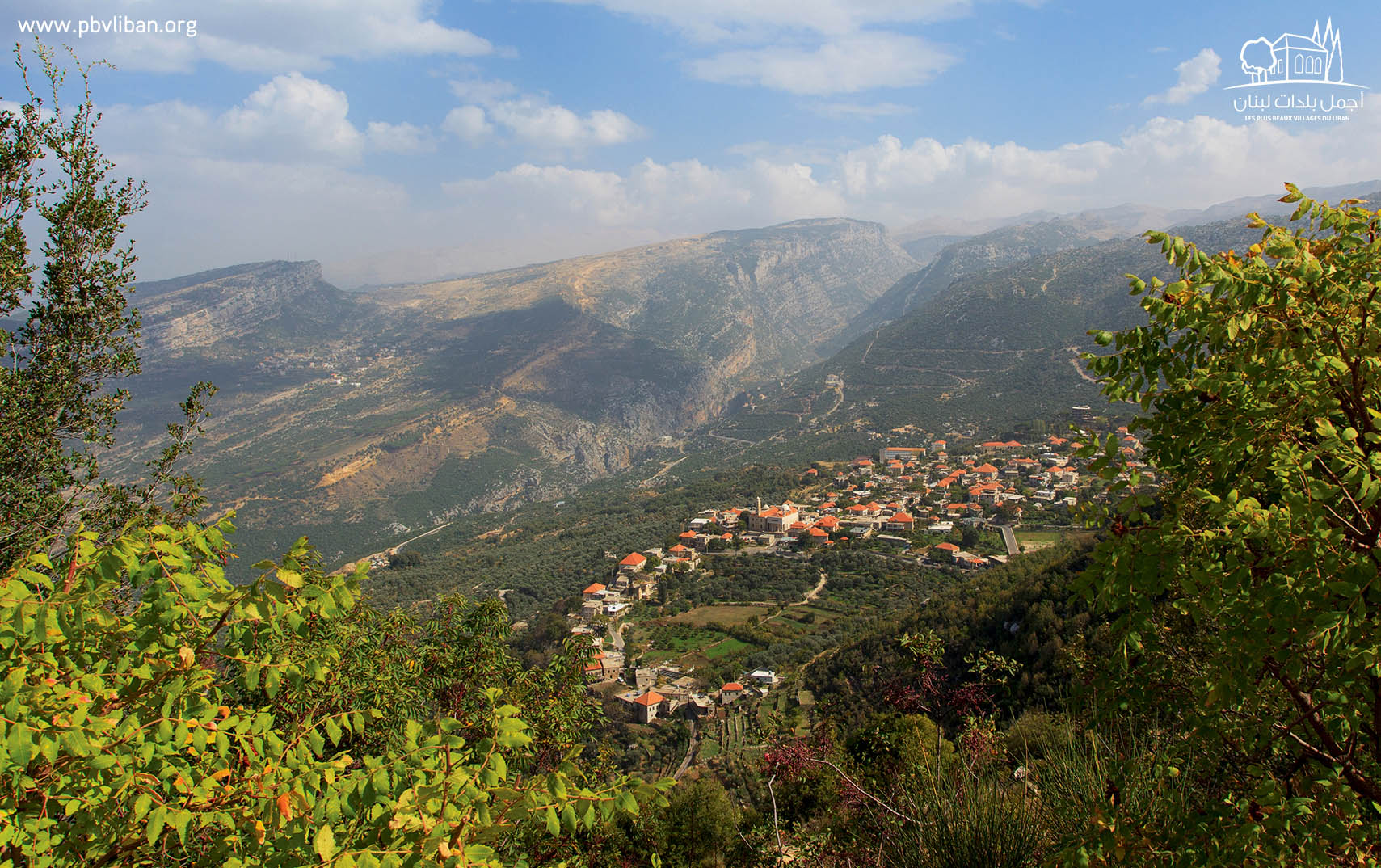 The labelled village of Douma in the Batroun area in northern Lebanon.  (pbvliban)
