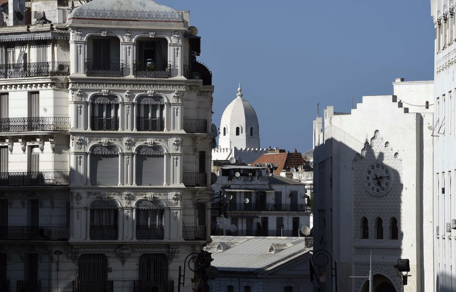 A file picture shows buildings in the centre of the Algerian capital, Algiers. (AFP)
