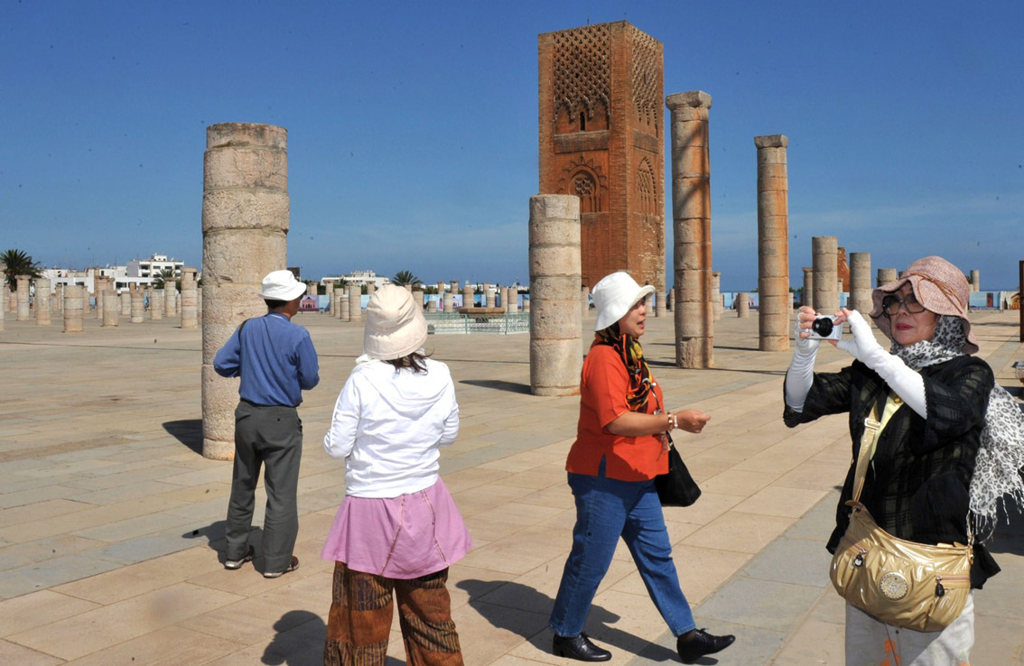 Strong growth. Tourists visit the Mausoleum of Mohamed V in Rabat. (AFP)