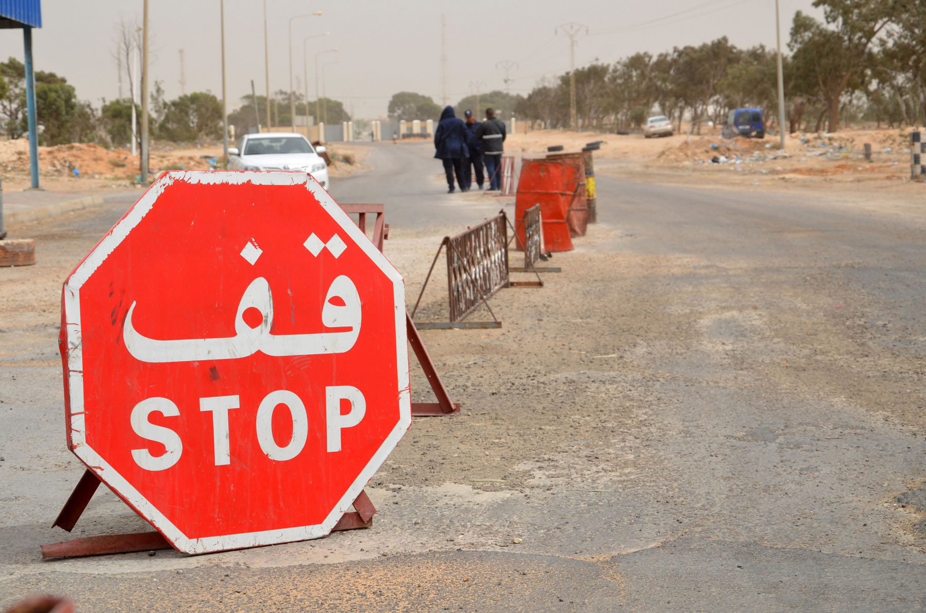 Tunisian customs post at the Ras Jedir border crossing with Libya, south of the town of Ben Guerdane, on May 3, 2016. (AFP)