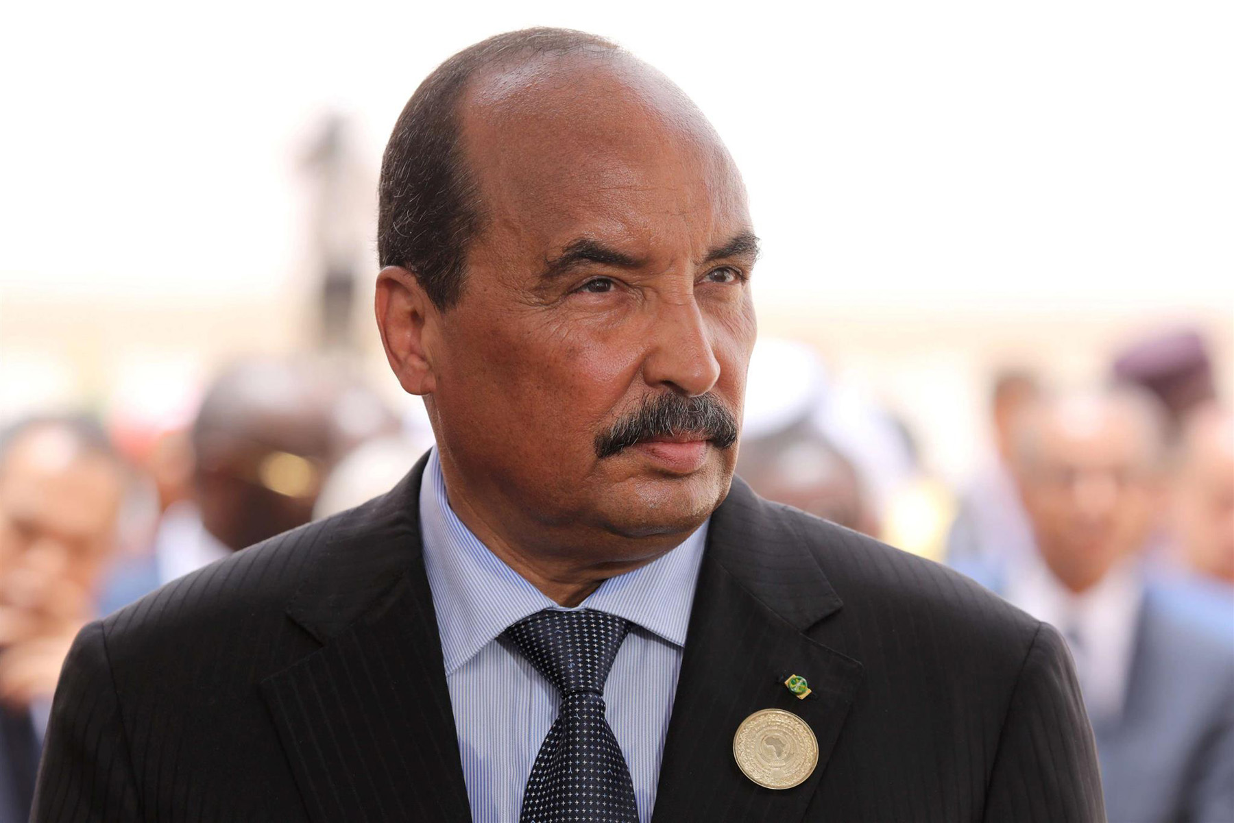 Mauritania's President Mohamed Ould Abdel Aziz waits for a visiting leader at Nouakchott Airport, last July. (Reuters)