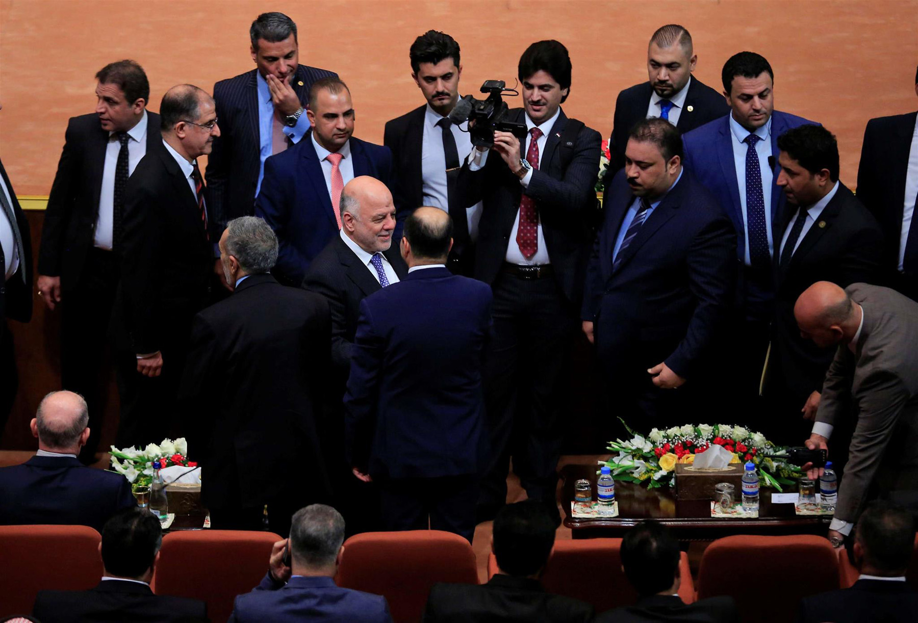 Iraqi Prime Minister Haider al-Abadi during a session of the Iraqi parliament in Baghdad, on September 3.                                                                           (Reuters)
