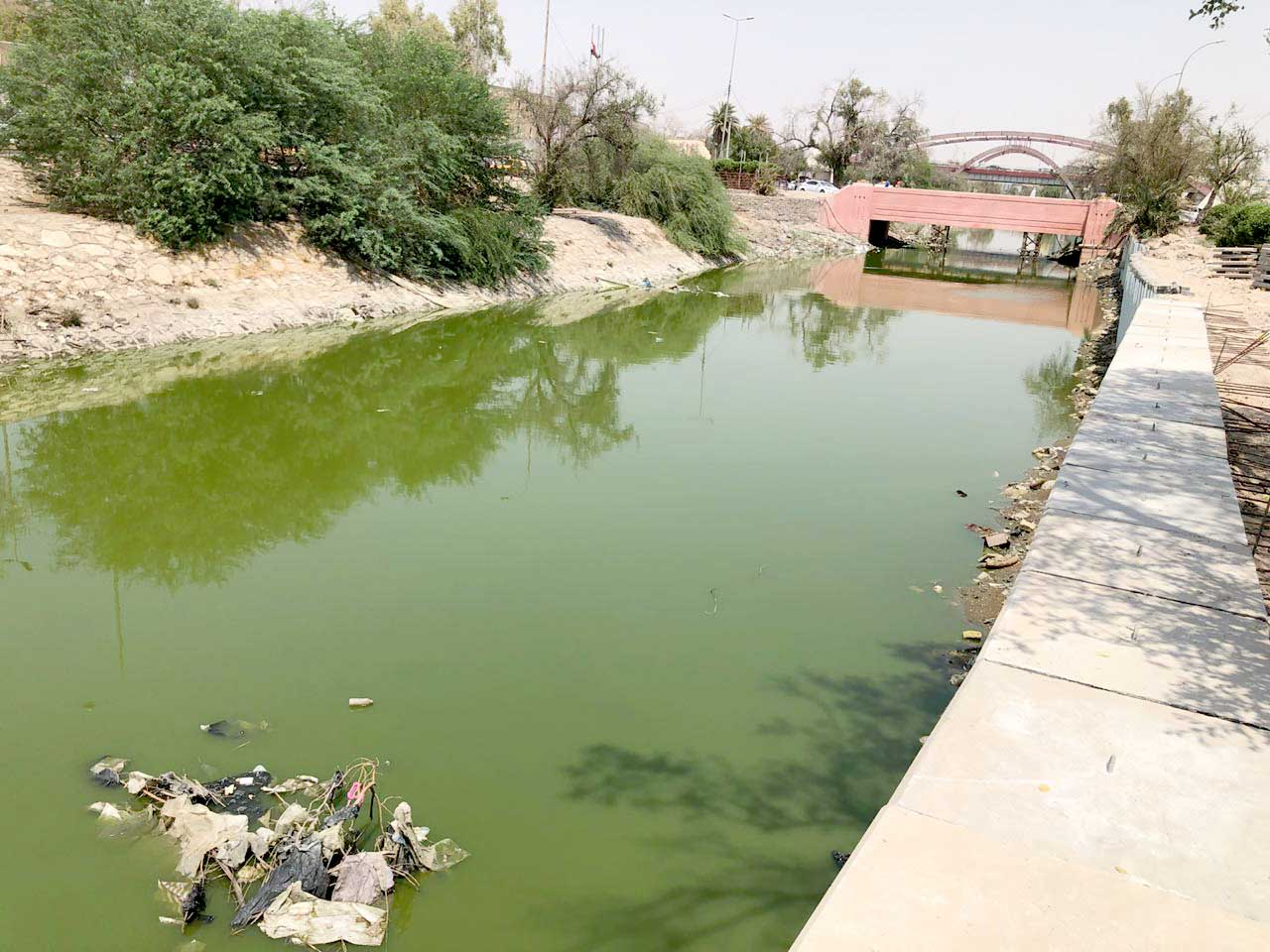 A view of a water stream in the Iraqi city of Basra. (Mohammad Dylan)