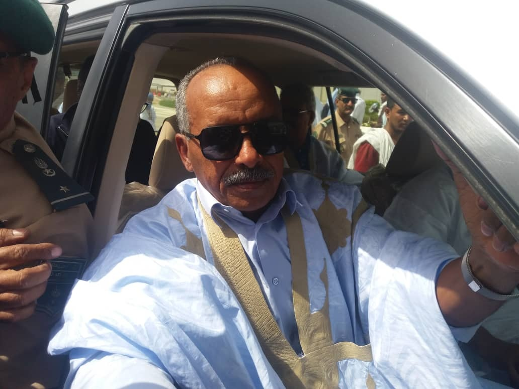 On the crest of a wave. New Speaker of the Mauritanian Parliament Colonel Cheikh Ould Baya arrives in Nouakchott, on October 11. (Twitter)