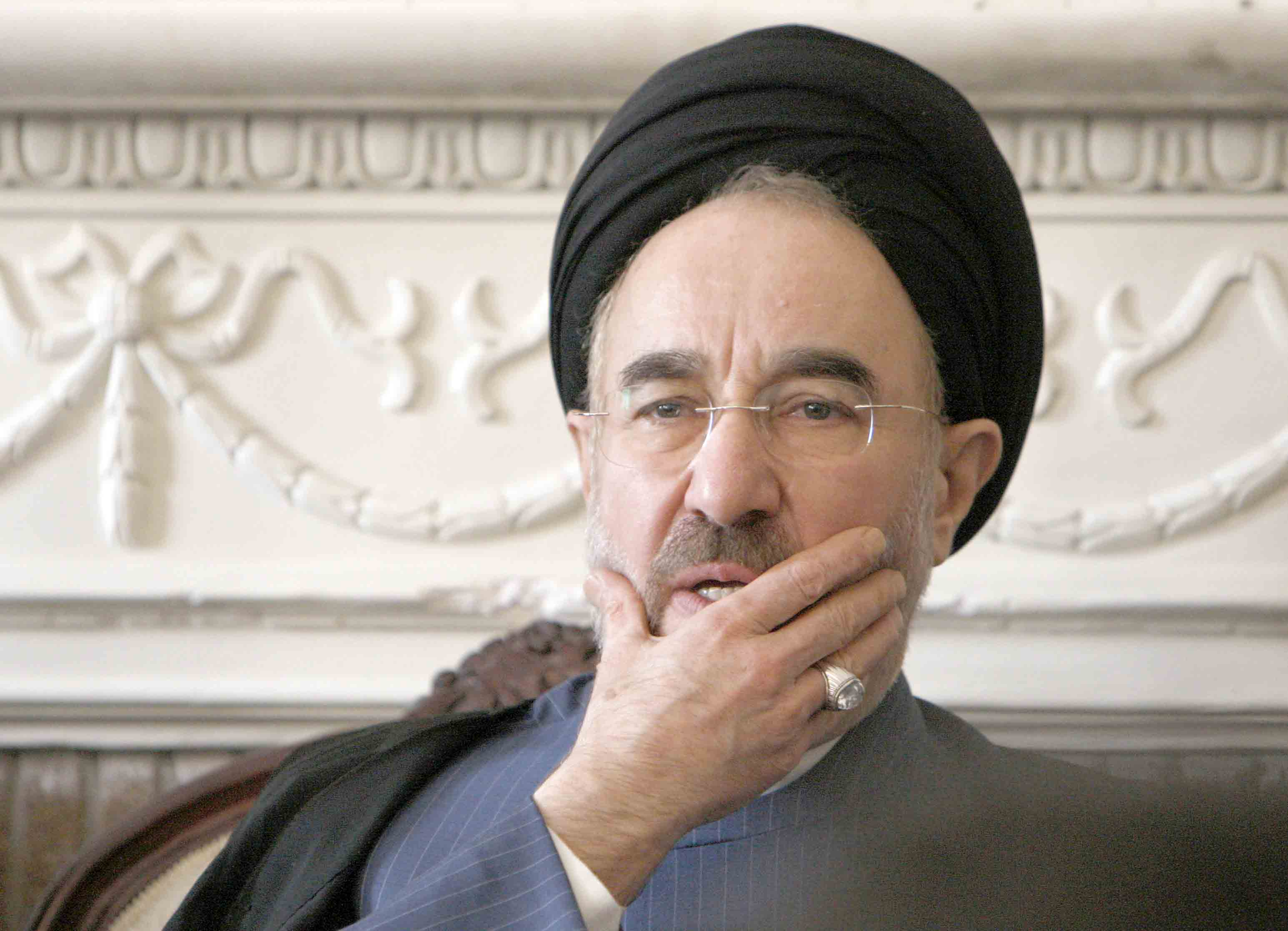 A file picture shows former Iranian President Mohammad Khatami during a meeting with supporters in Tehran. (AFP)