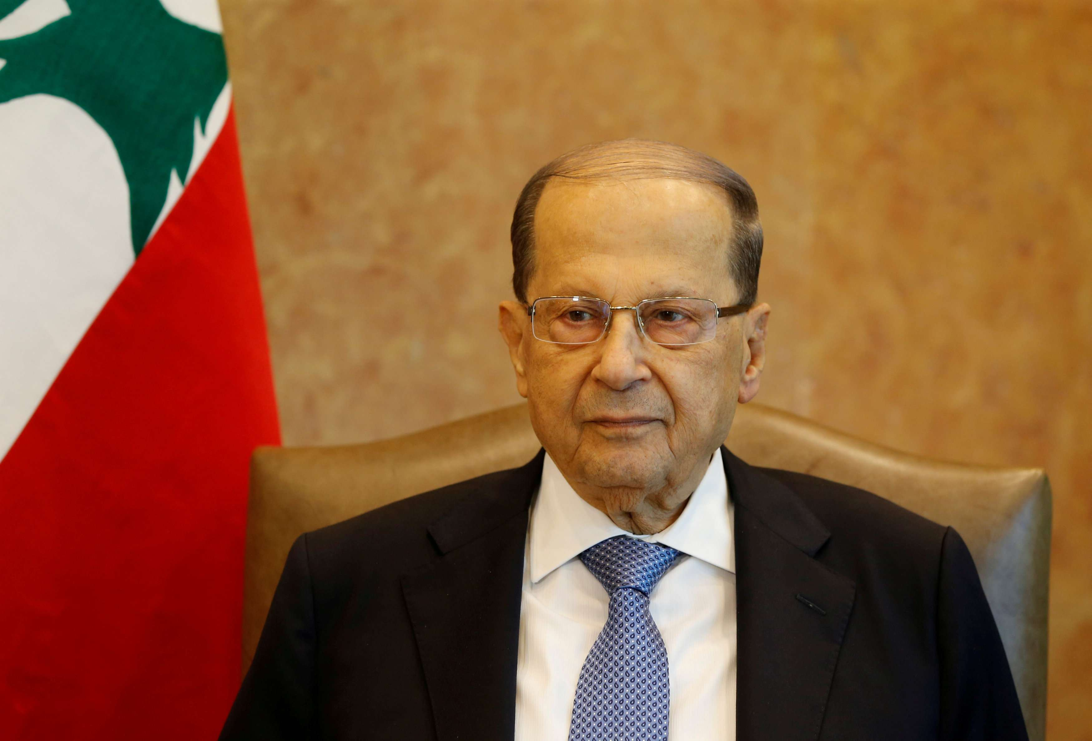 New facts. Lebanese President Michel Aoun at the presidential palace in Baabda, last November. (Reuters)