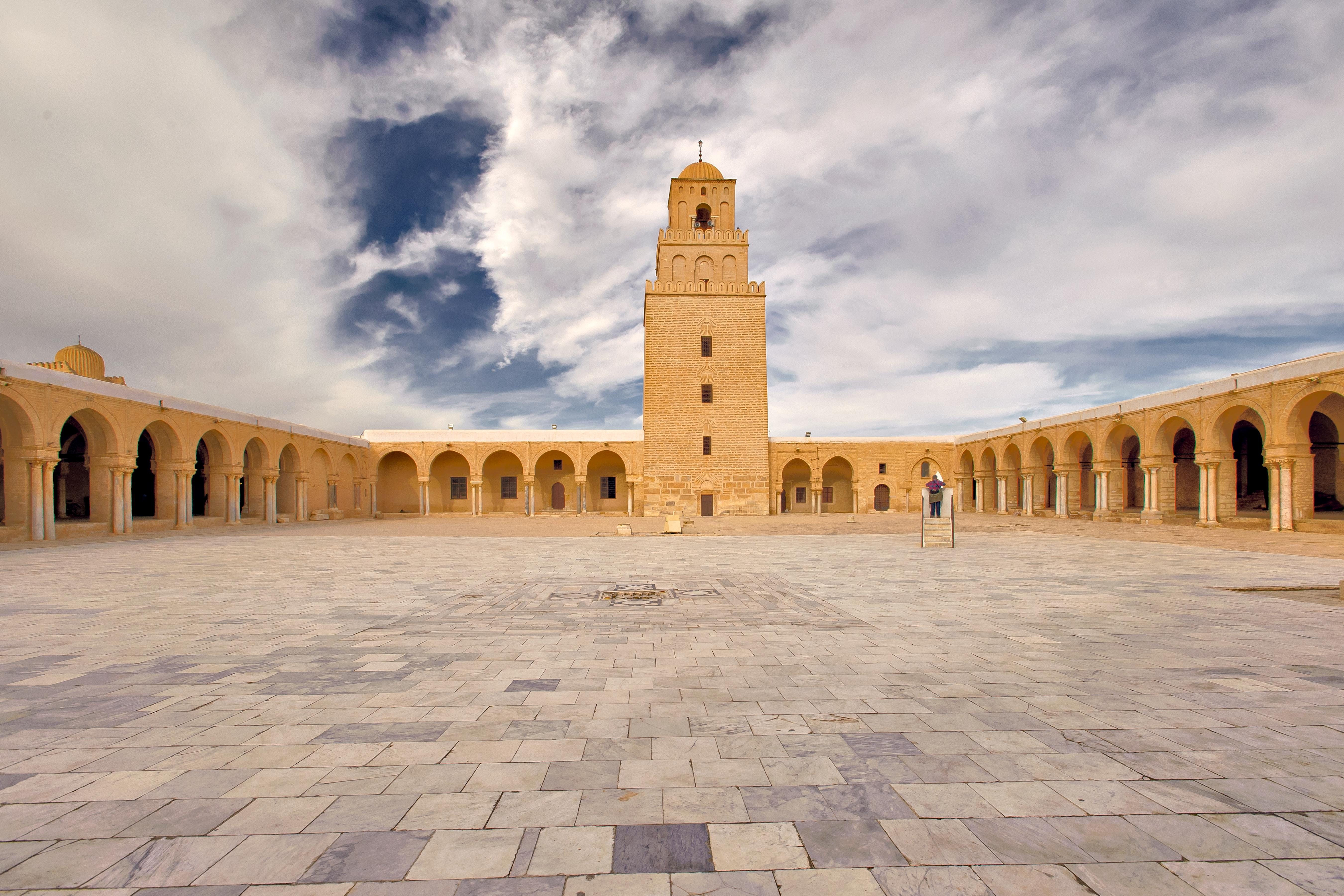 Courtyard of the Uqba ibn Nafi Mosque in Kairouan.(Ministry of Tourism)