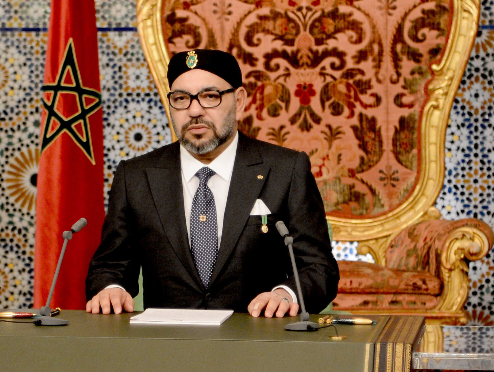 Dialogue offer. Moroccan King Mohammed VI speaks during the 43rd anniversary of the Green March, on November 6. (MAP)