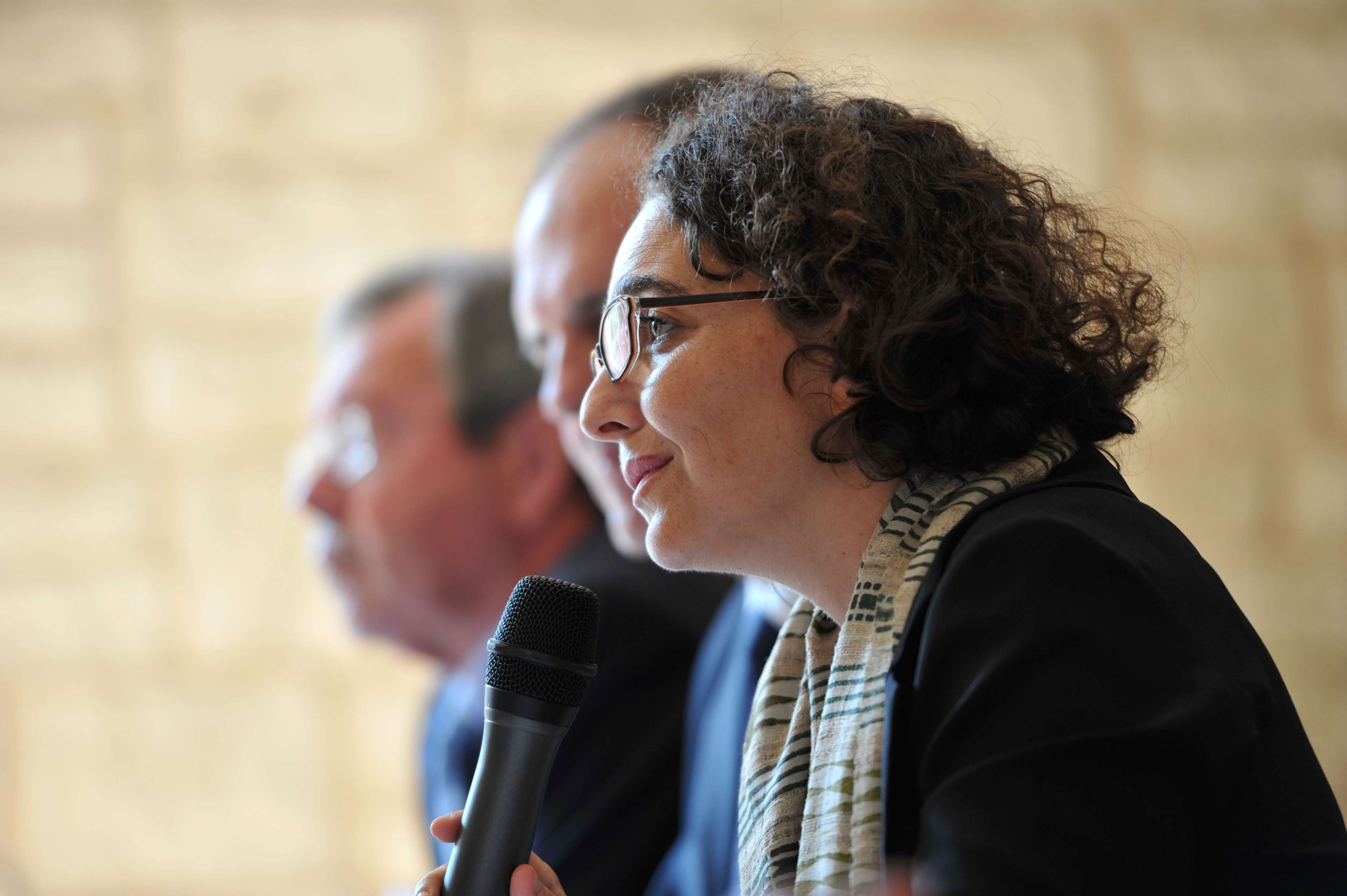 Pressing issue. SG-CIPDR Secretary-General Muriel Domenach during a news conferenceat Beaumont-en-Veron near Chinon in central France. (AFP)