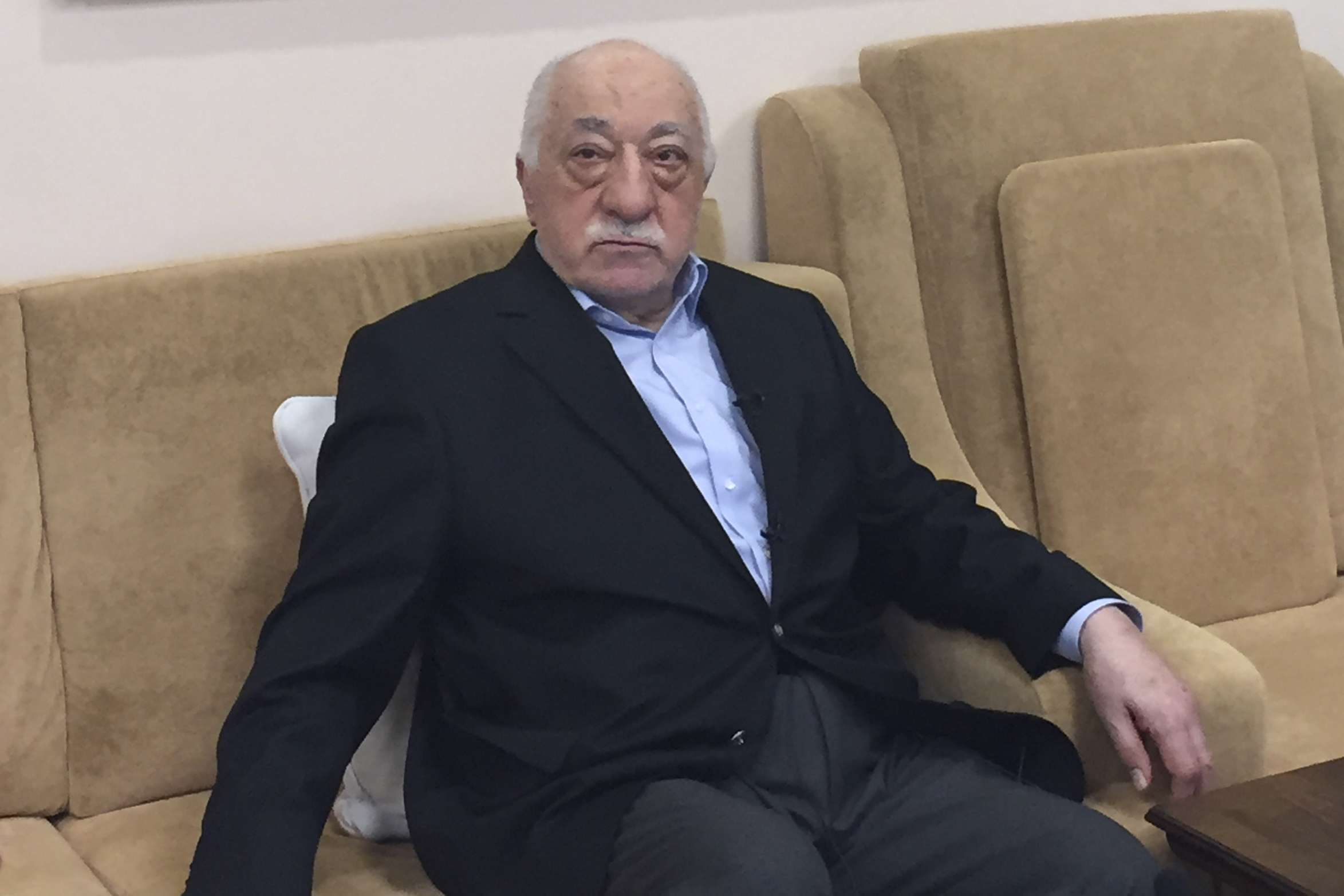 In this file photo taken on July 18, 2016, Turkish cleric and opponent to the Erdogan regime Fethullah Gulen poses at his residence in Saylorsburg, Pennsylvania. (AFP)