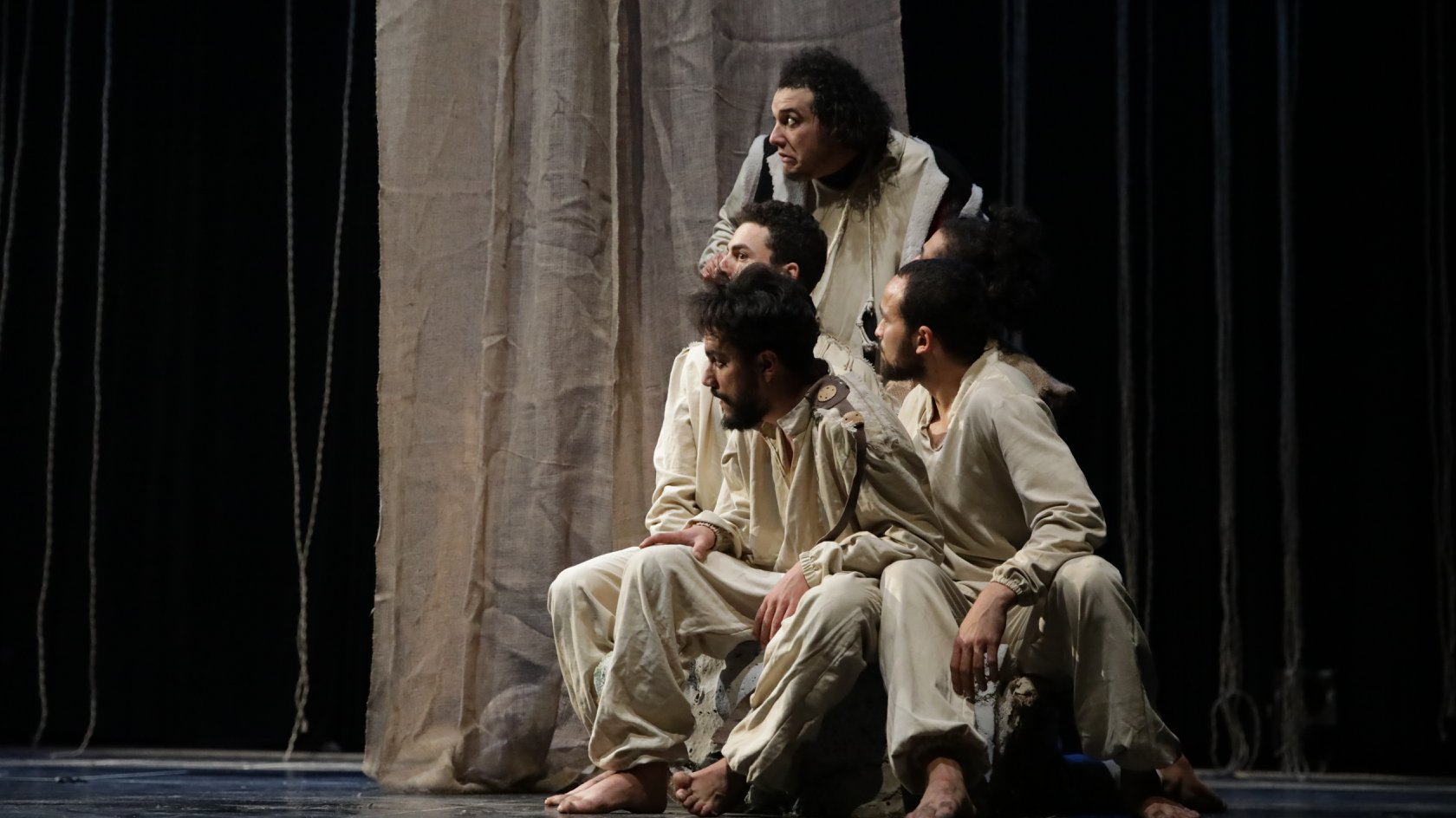 "A scene from the Tunisian play  ""Zaman  El Forsene"" (""Era of Knights"").  (Carthage Theatre Festival)"