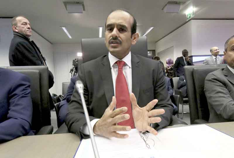 Political manoeuvre. Qatari Minister of State for Energy Affairs Saad al-Kaabi speaks prior to the start of an OPEC meeting in Vienna, December 6. (AP)