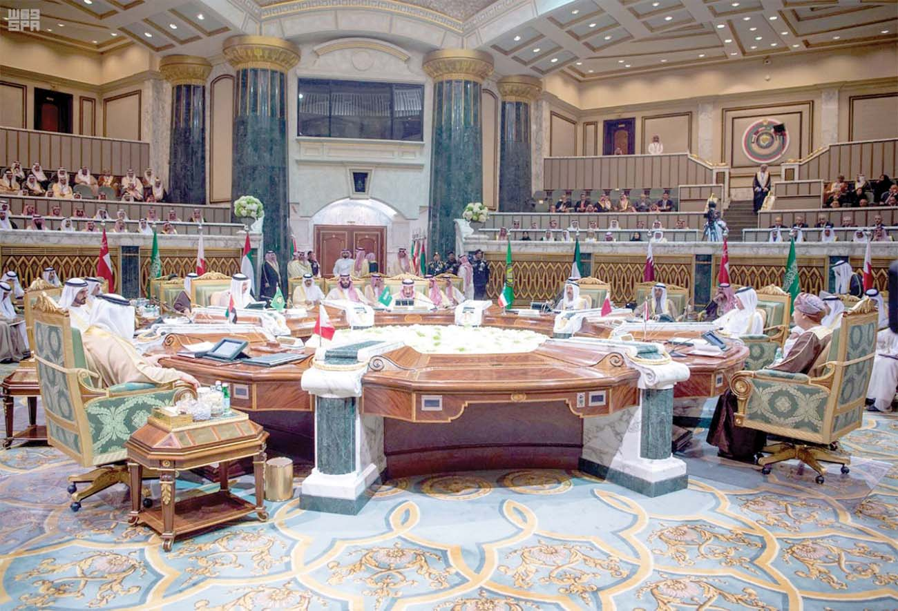 Crucial juncture. Leaders from the six nations of the Gulf Cooperation Council meet in Riyadh, December 9. (SPA)