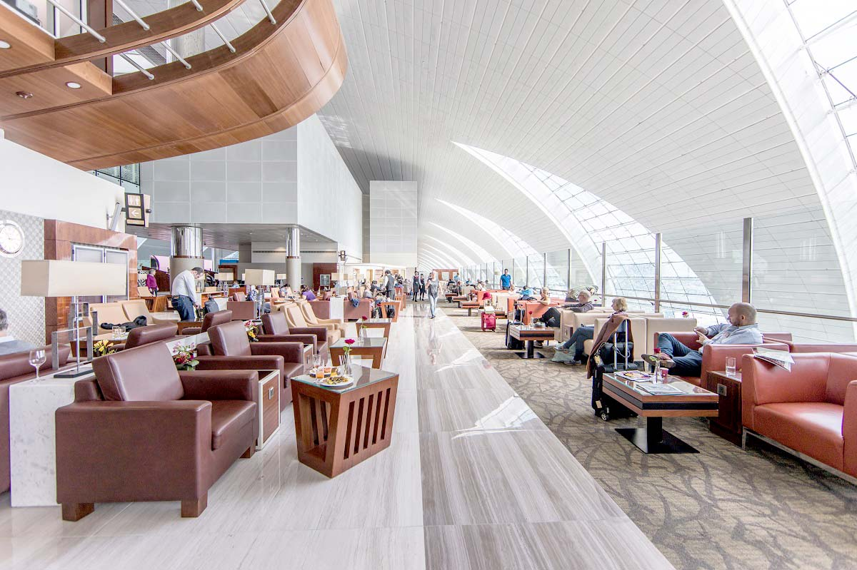 One of the lounges at Dubai International Airport.  (Dubai International Airport)