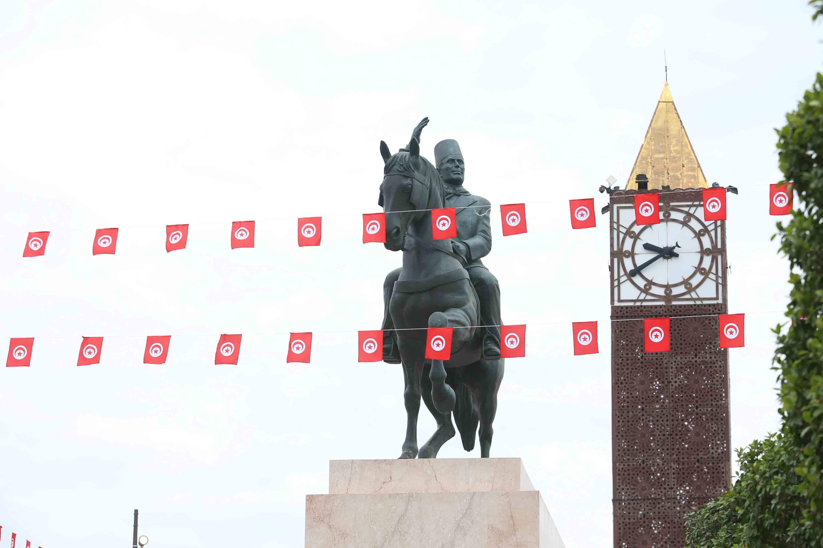 A statue of Tunisia's first President Habib Bourguiba in central Tunis. (Reuters)