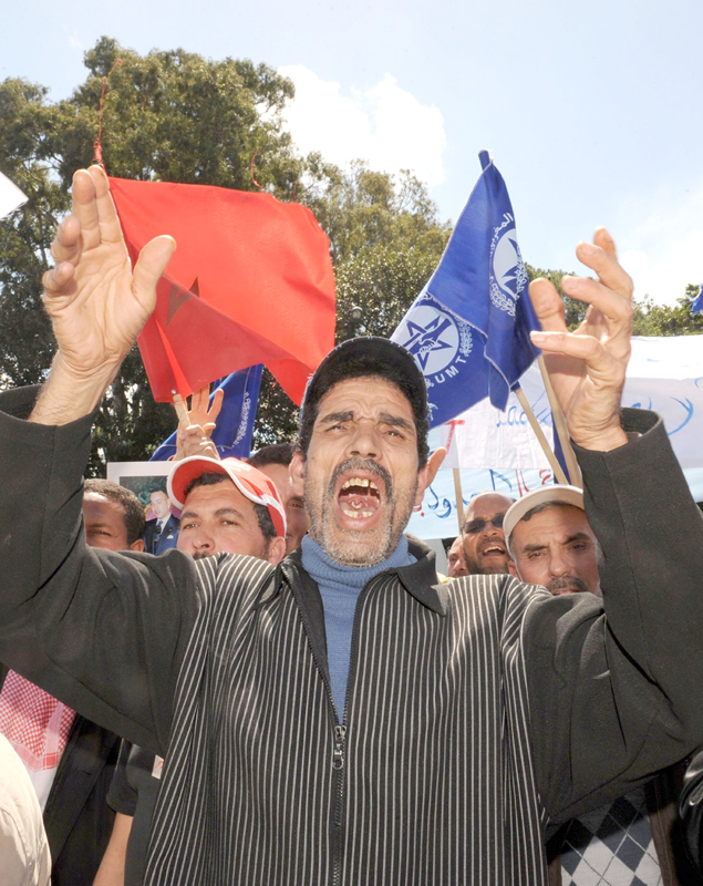 A sense of frustration. A Moroccan man protests against social injustice in Rabat. (AFP)