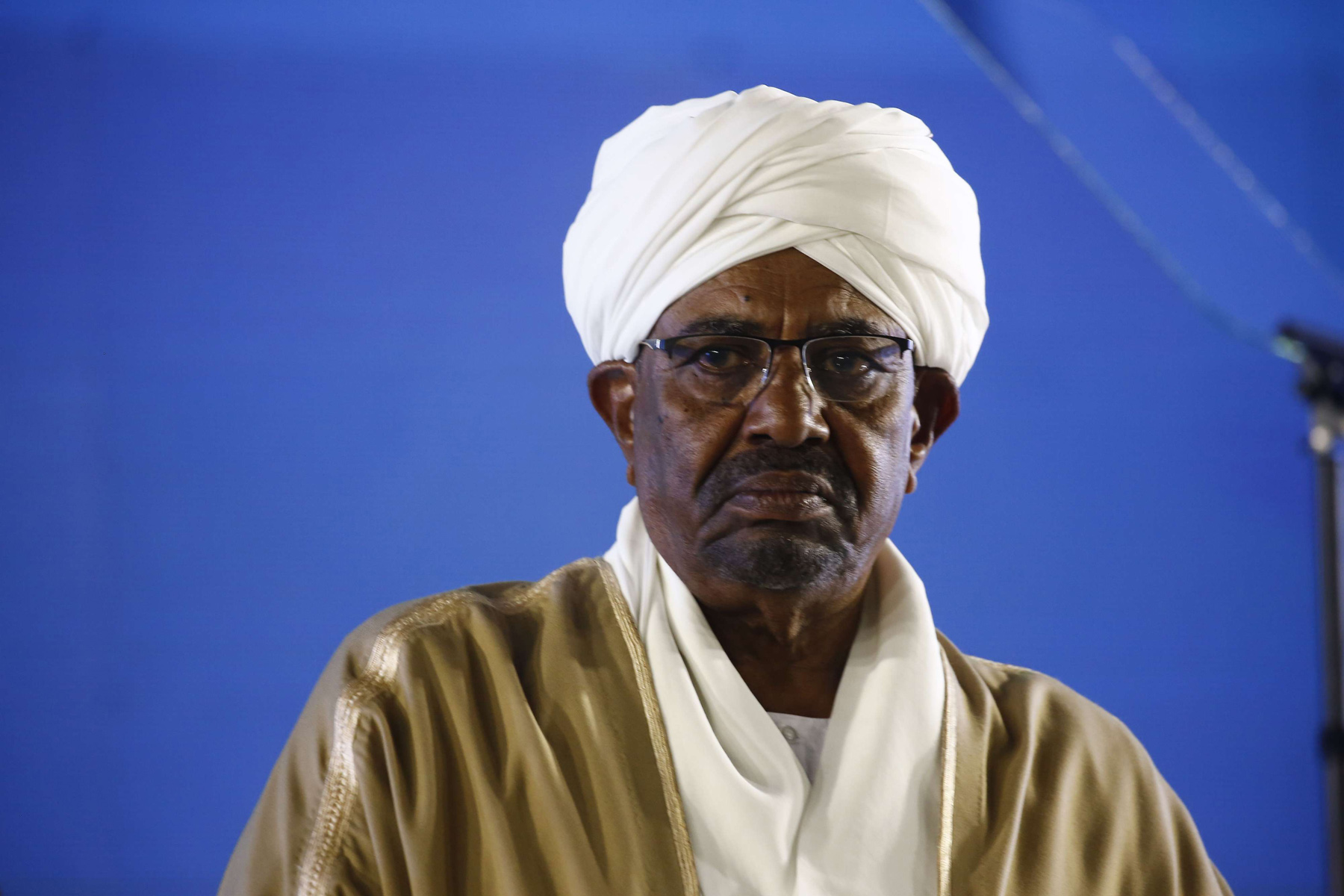 Sudanese President Omar al-Bashir at the presidential palace in Khartoum, December 31. (AFP)