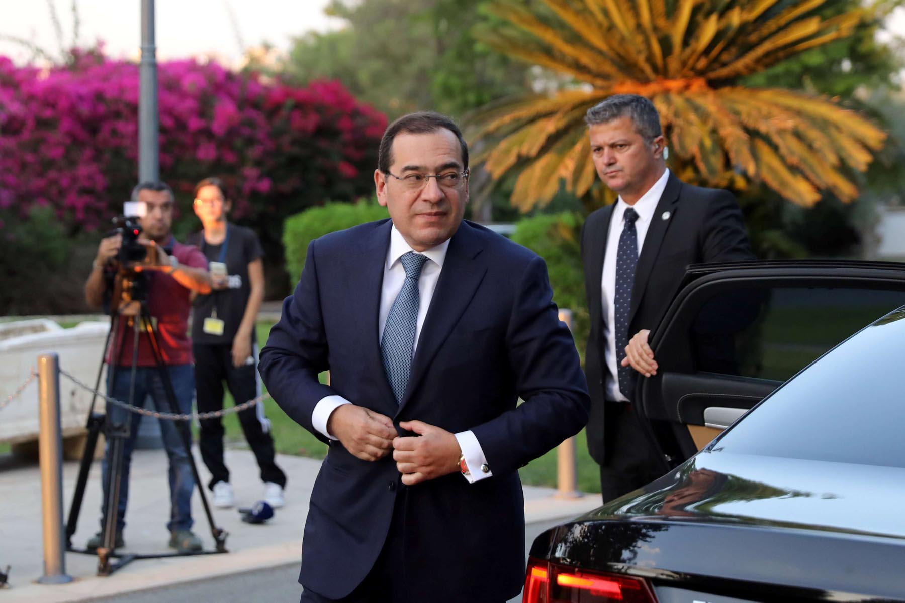 Egypt's Minister of Petroleum and Mineral Resources Tarek el-Molla arrives for a meeting  in Nicosia, last September. (Reuters)