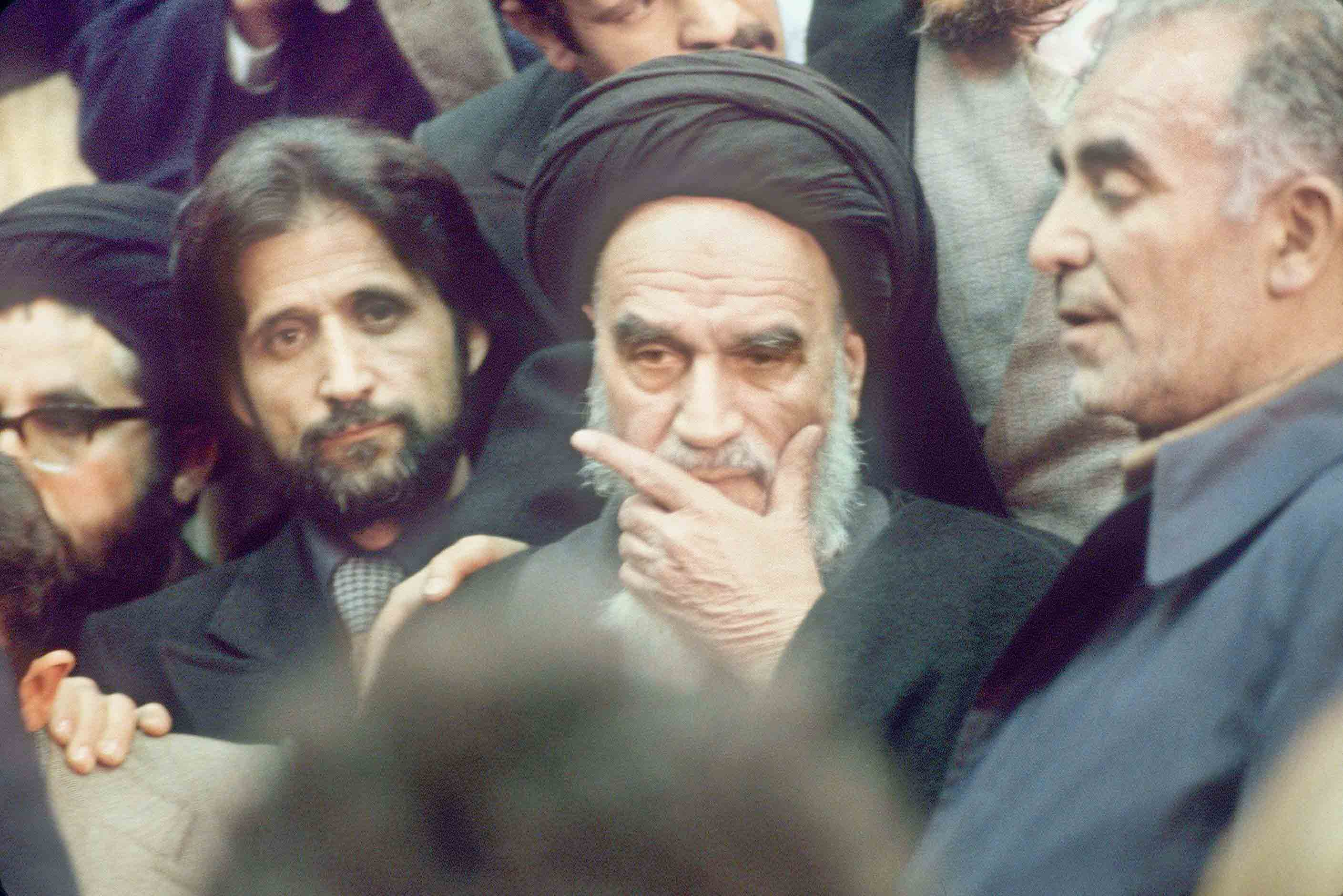 A hijacked revolution. A 1979 file picture shows Ayatollah Ruhollah Khomeini surrounded by his supporters in Tehran. (AFP)