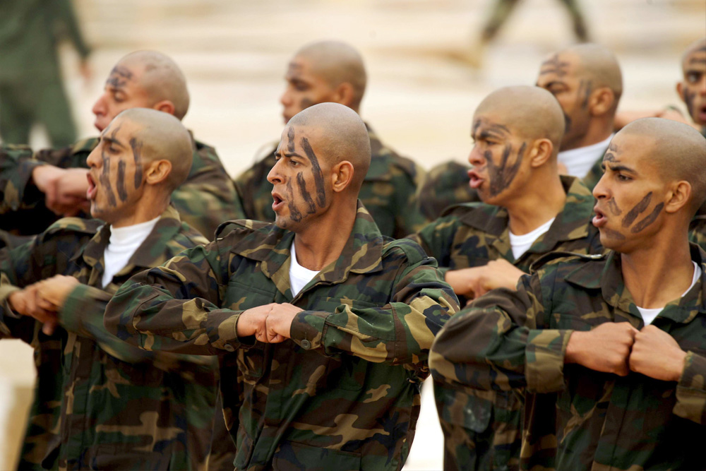 Pressing on. Members of the Libyan National Army (LNA) special forces attend a graduation ceremony in Benghazi. (AFP)
