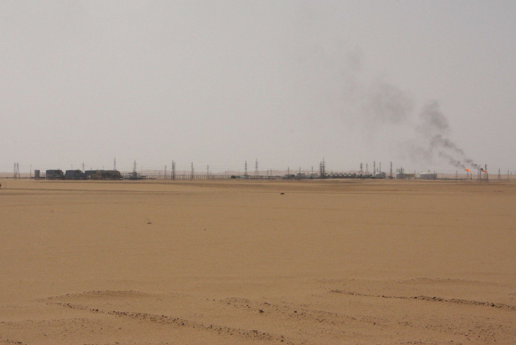 A view shows Sharara oil field near Ubari, Libya, July 6, 2017. (Reuters)