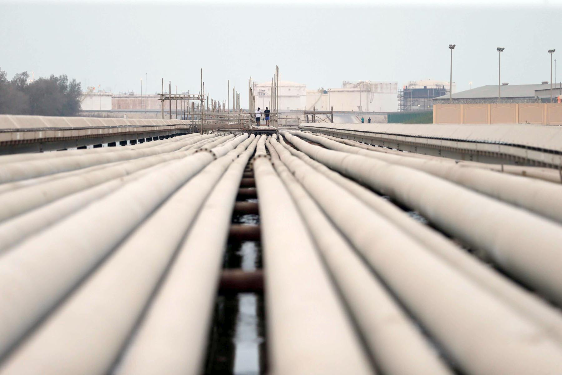 Big ambitions. Pipelines and fuel storage tanks of state-run Bahrain Petroleum Company. (Reuters)